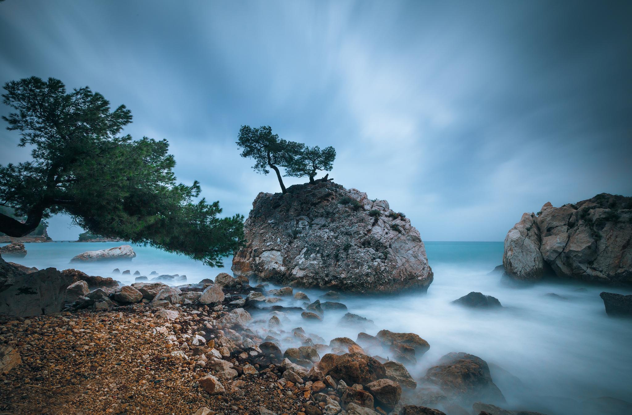 скала море камни rock sea stones  № 45290 загрузить