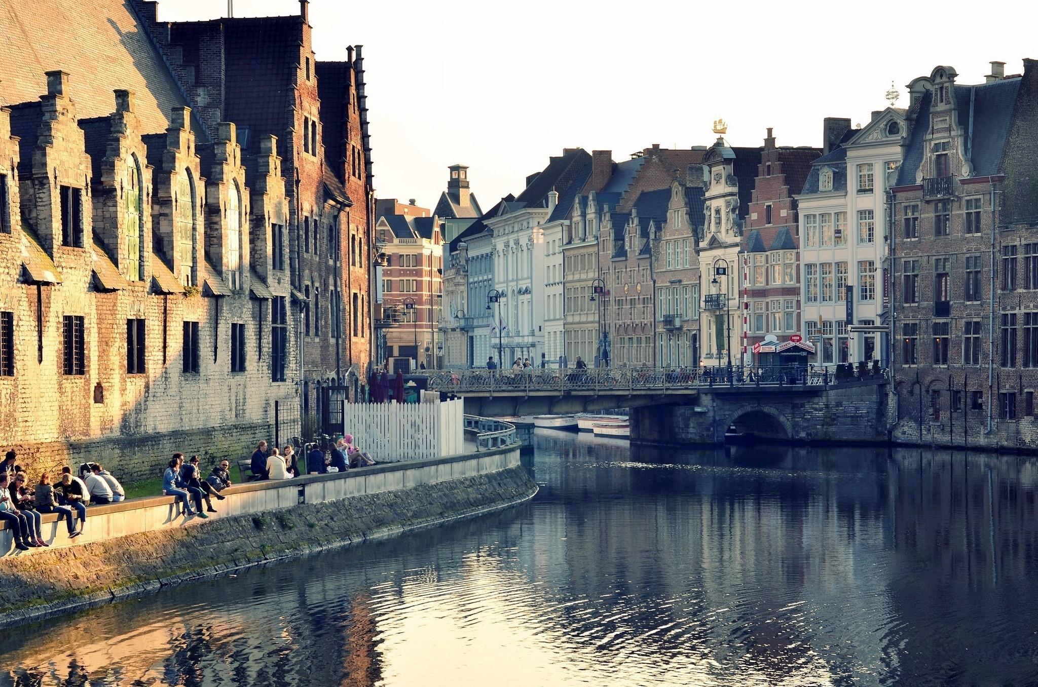 страны архитектура река Бельгия Брюгге  № 1730843 загрузить
