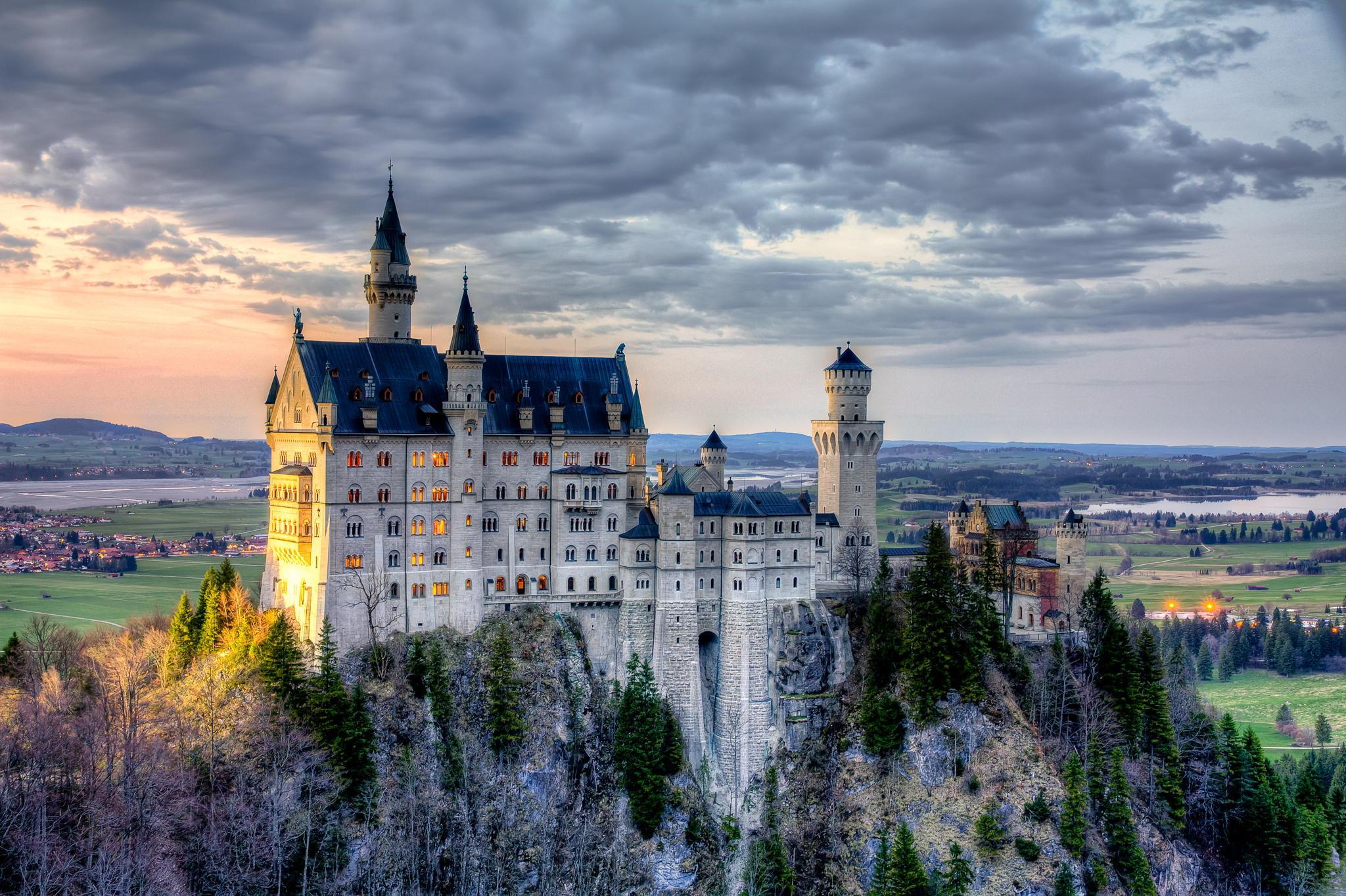 архитектура страны Замок Нойшванштайн Швангау Германия  № 2231536  скачать