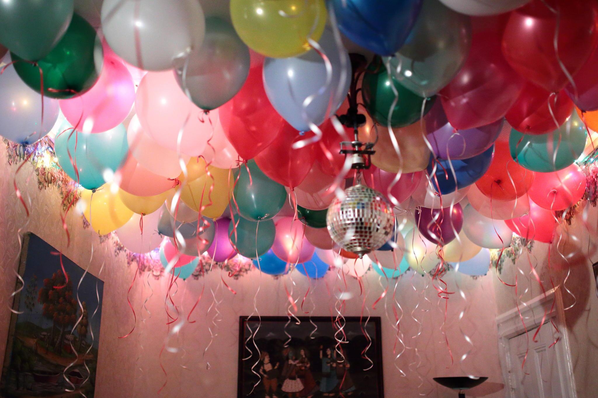 Картинки с шарами к дню рождения, открытку для парня