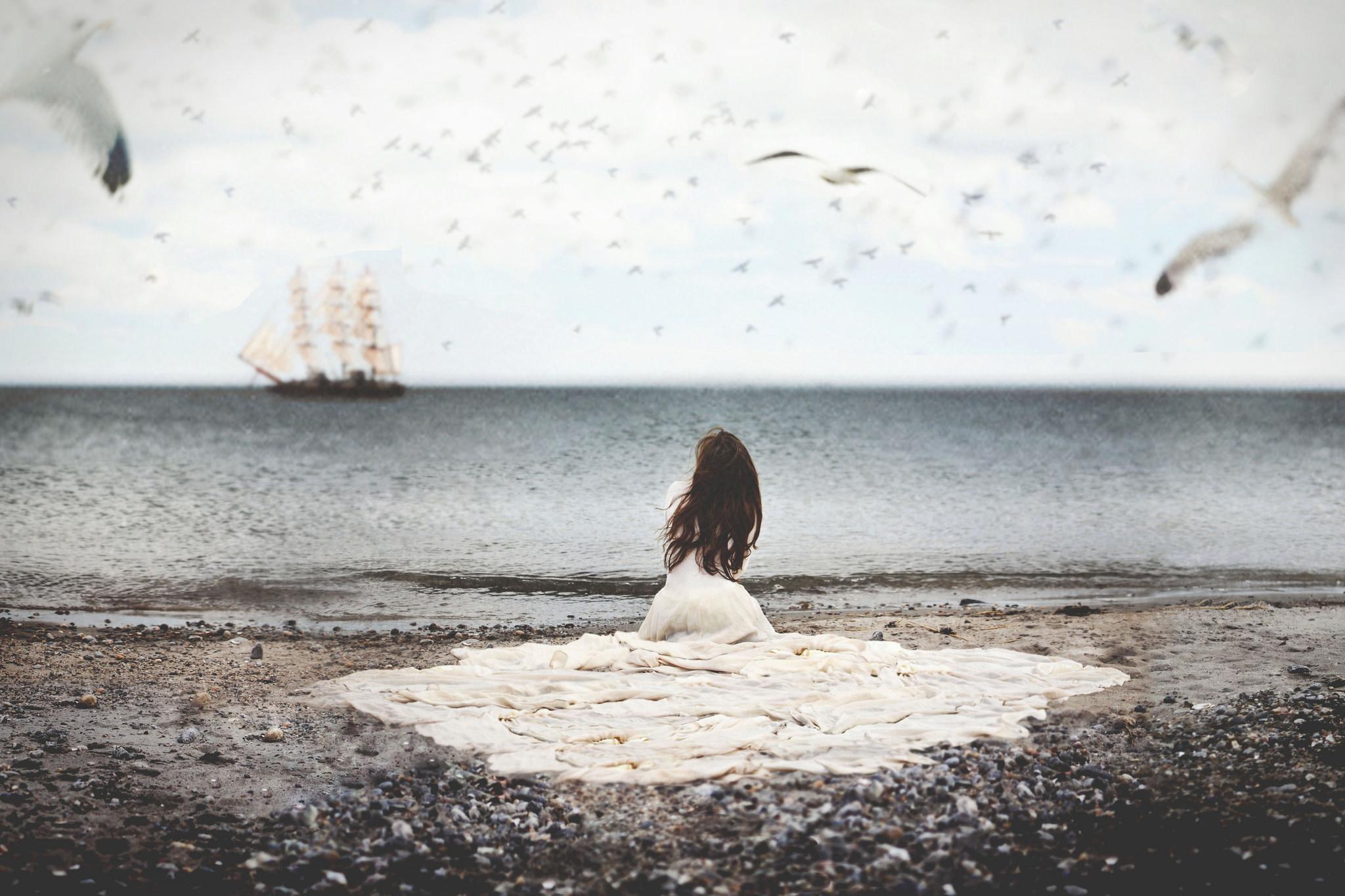 Картинки грустные у моря