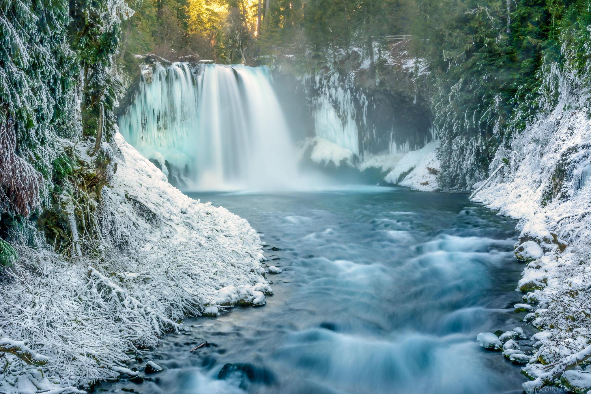 Зимний водопад  № 2946870 загрузить