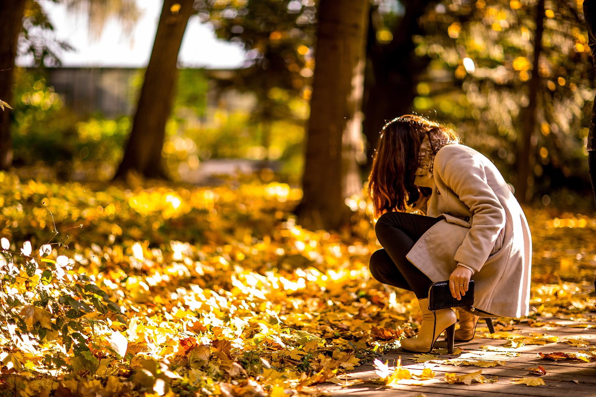 картинки девушек осень