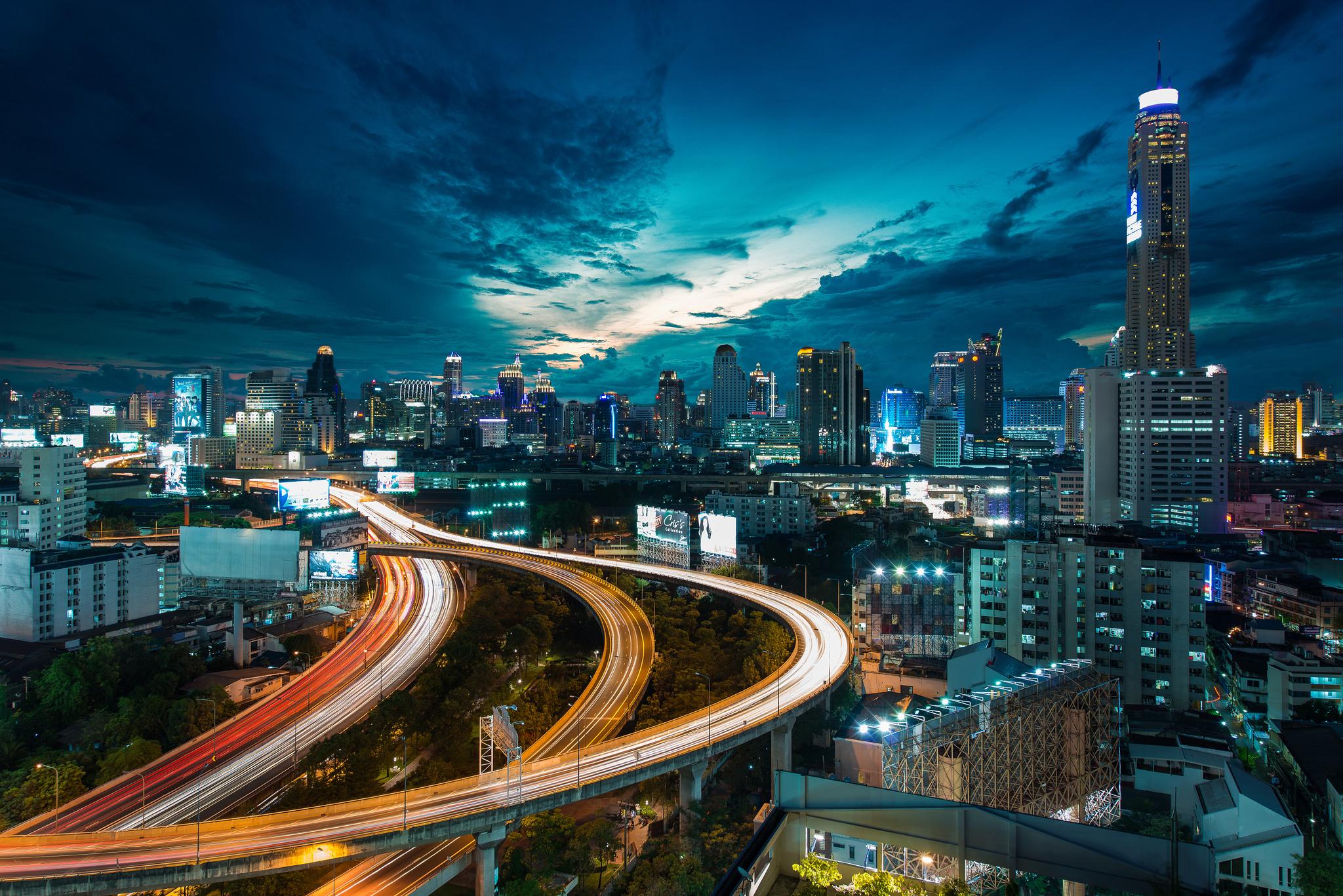 страны архитектура Бангкок Таиланд ночь  № 2195080 загрузить