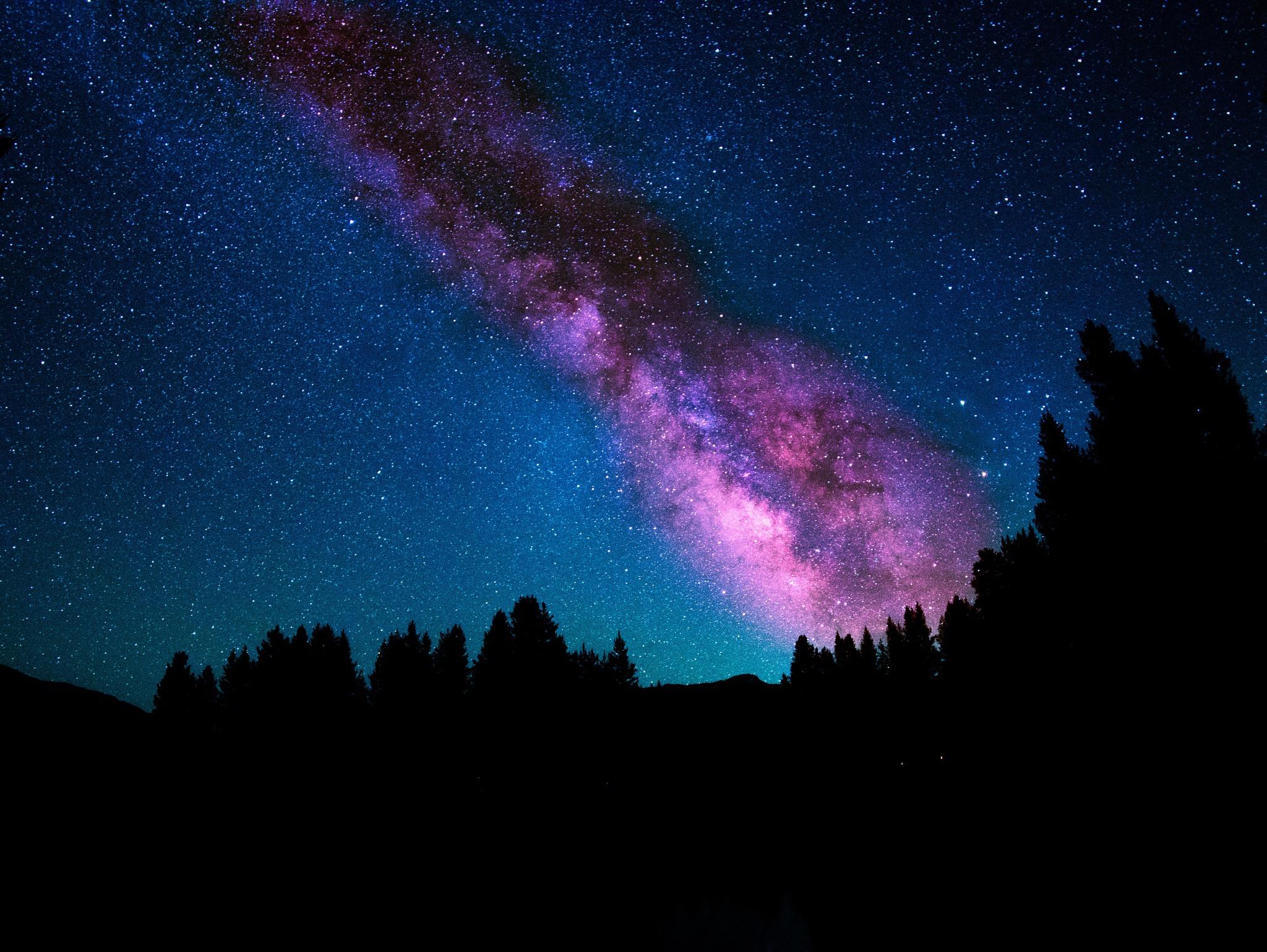 Как сделать ночного неба на телефон