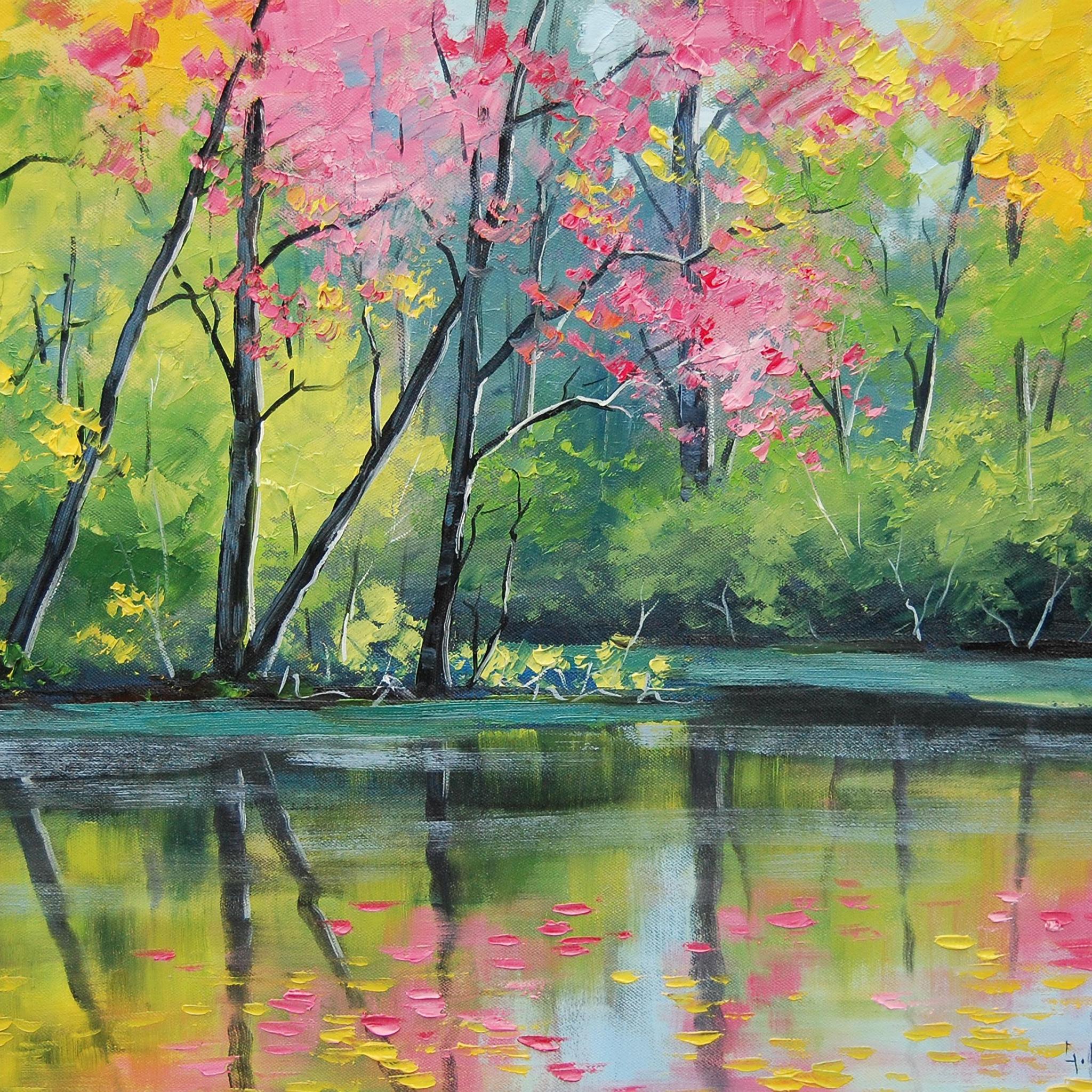 Природа картинки красивые рисовать красками
