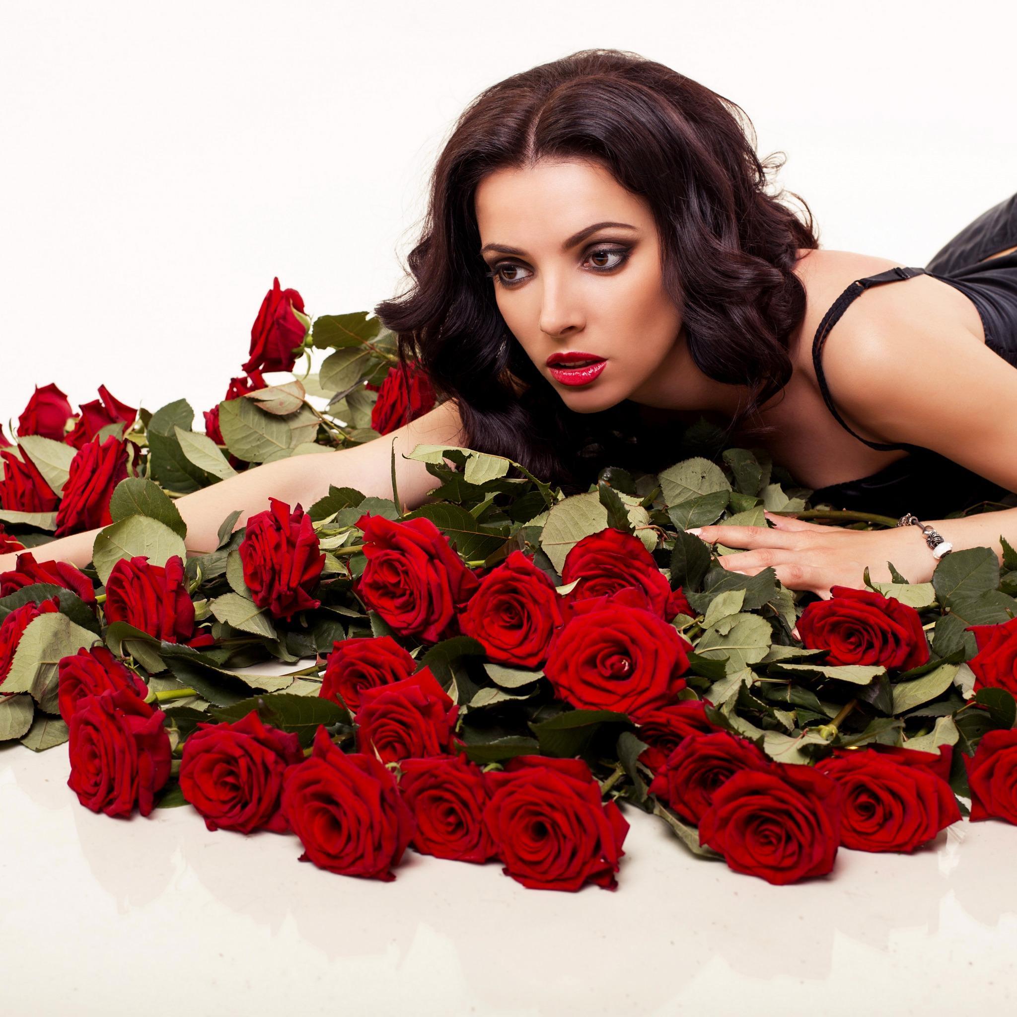 Открытка красивые розы для девушки