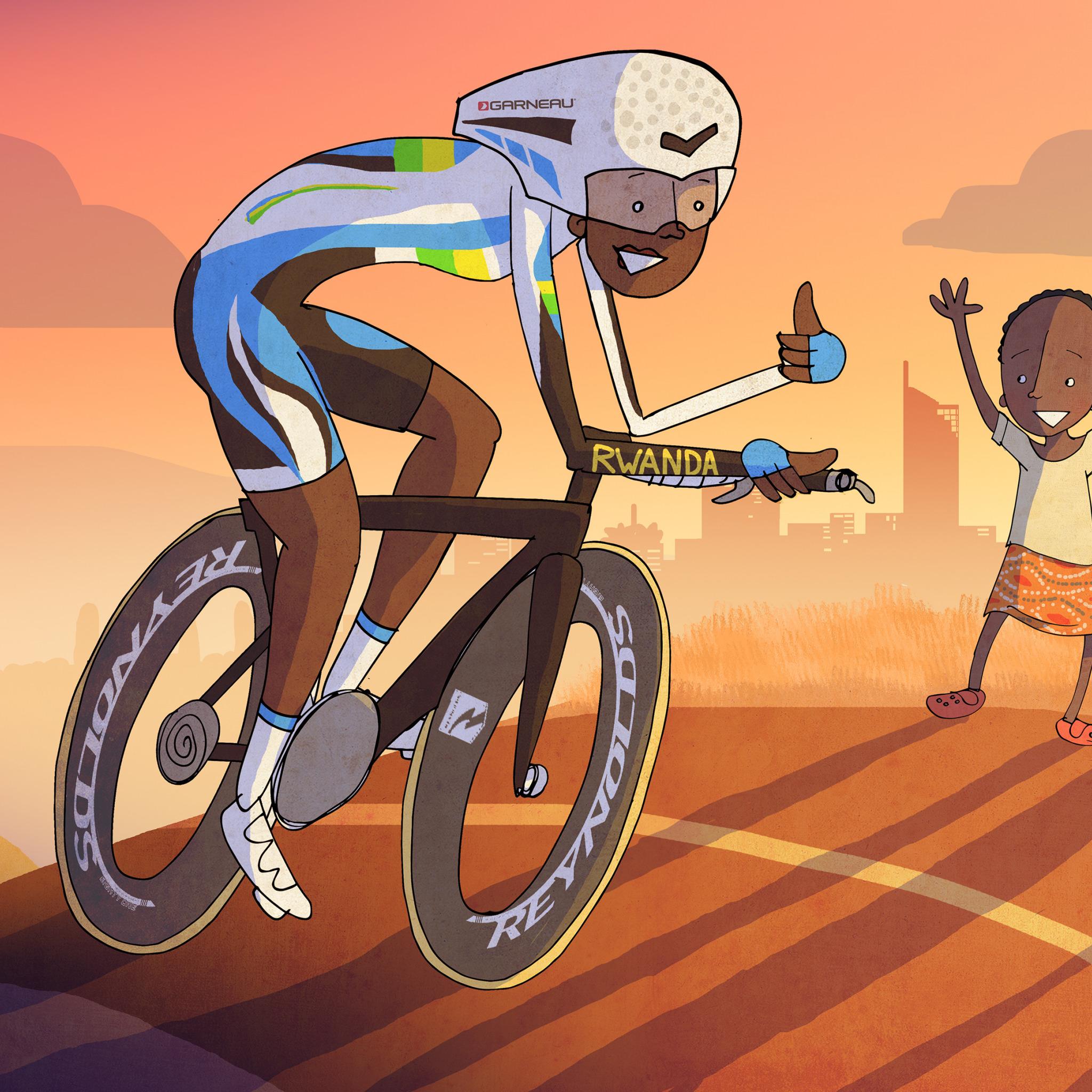 Новым годом, смешные рисунки велосипедистов