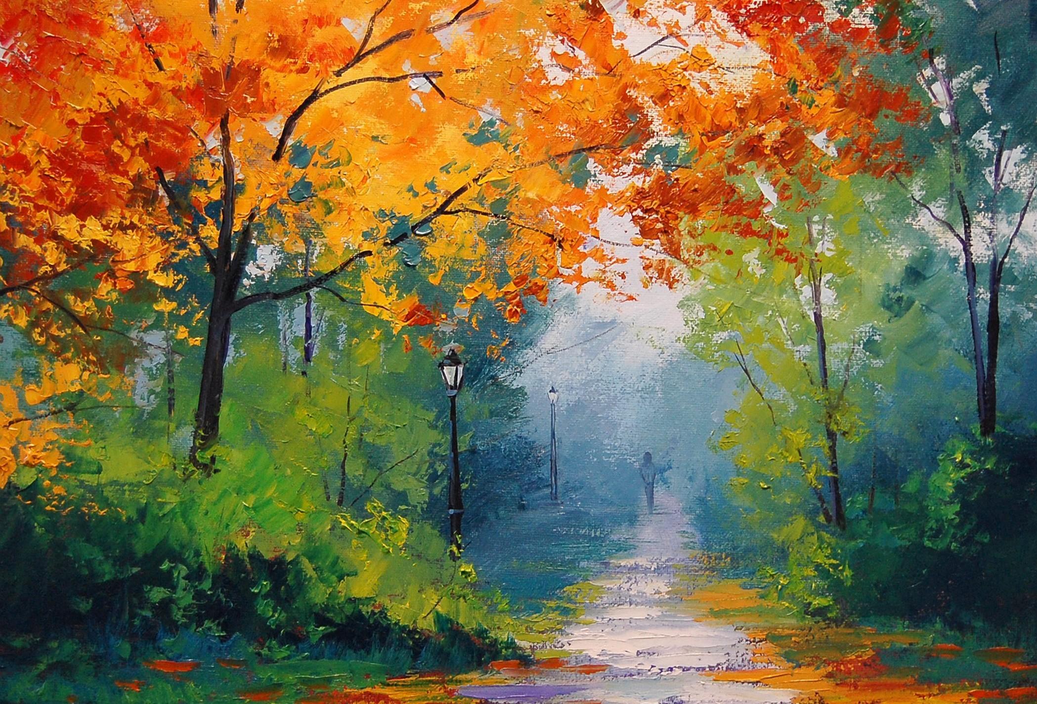 обои на рабочий стол картины известных художников осень № 247497 бесплатно