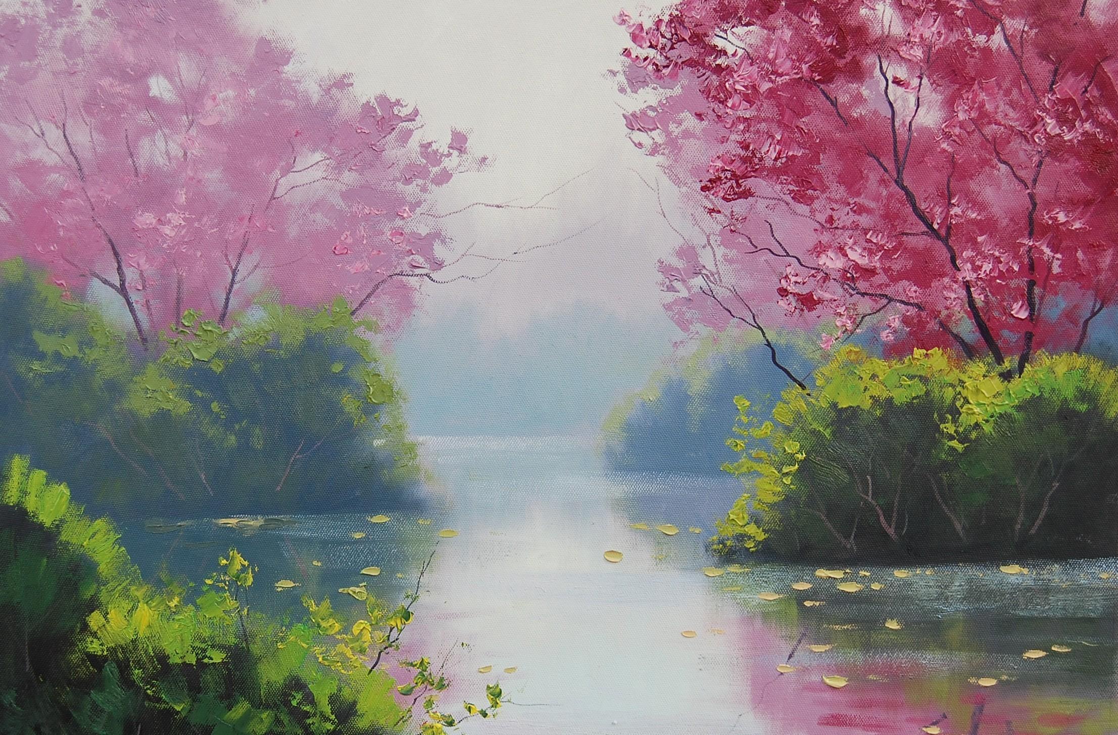 арты красками природа