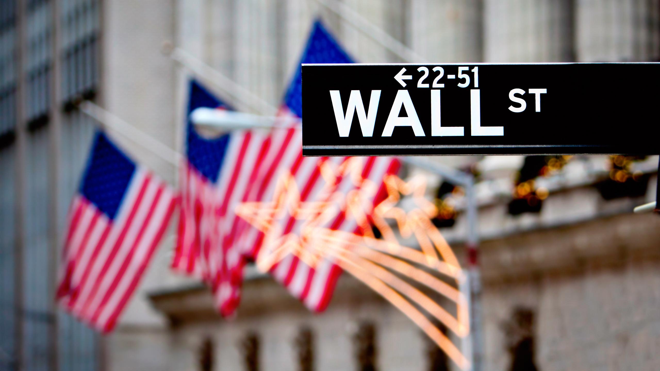 Скачать обои america, нью-йорк, знаки, flags, америка, символы, bokeh wallpapers, states, фондовая биржа, уолл стрит