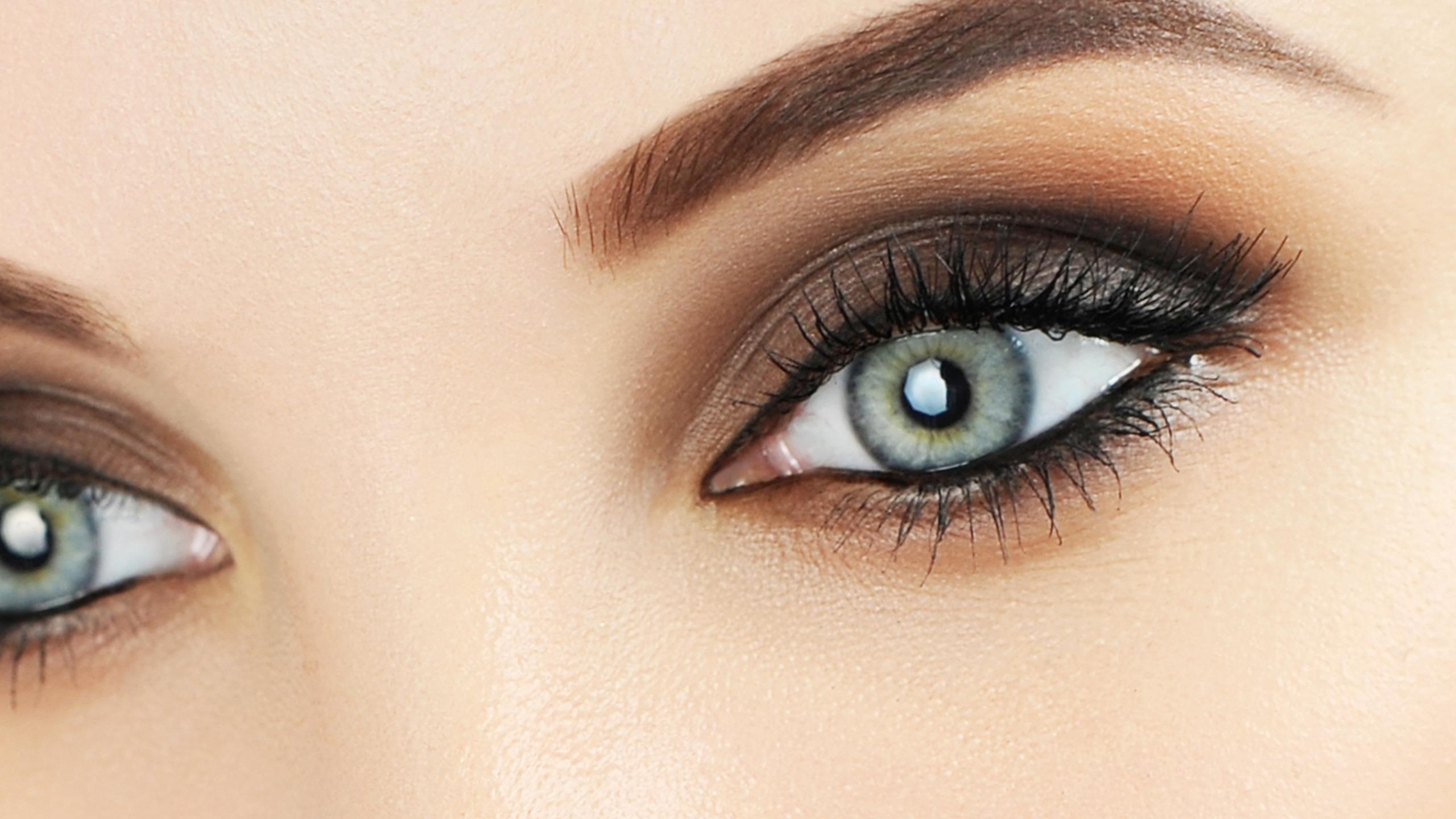 Как сделать серые глаза темнее