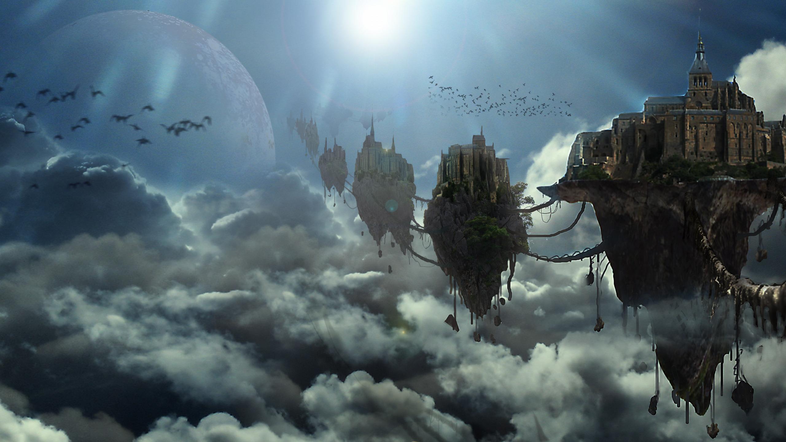 Город в облаках картинка