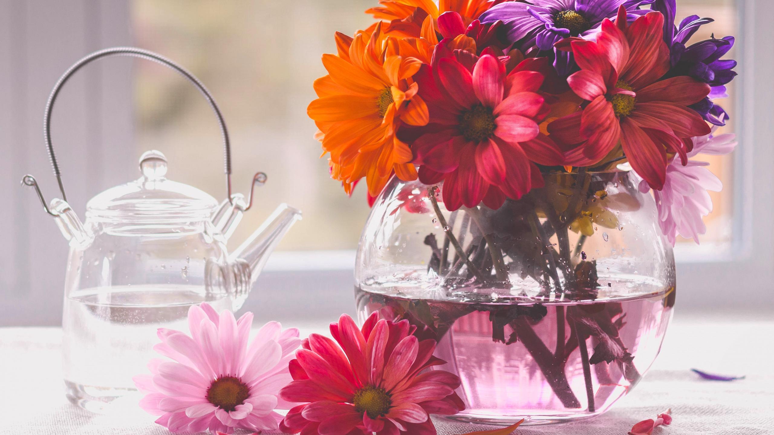 Картинки на рабочий стол букеты в вазе