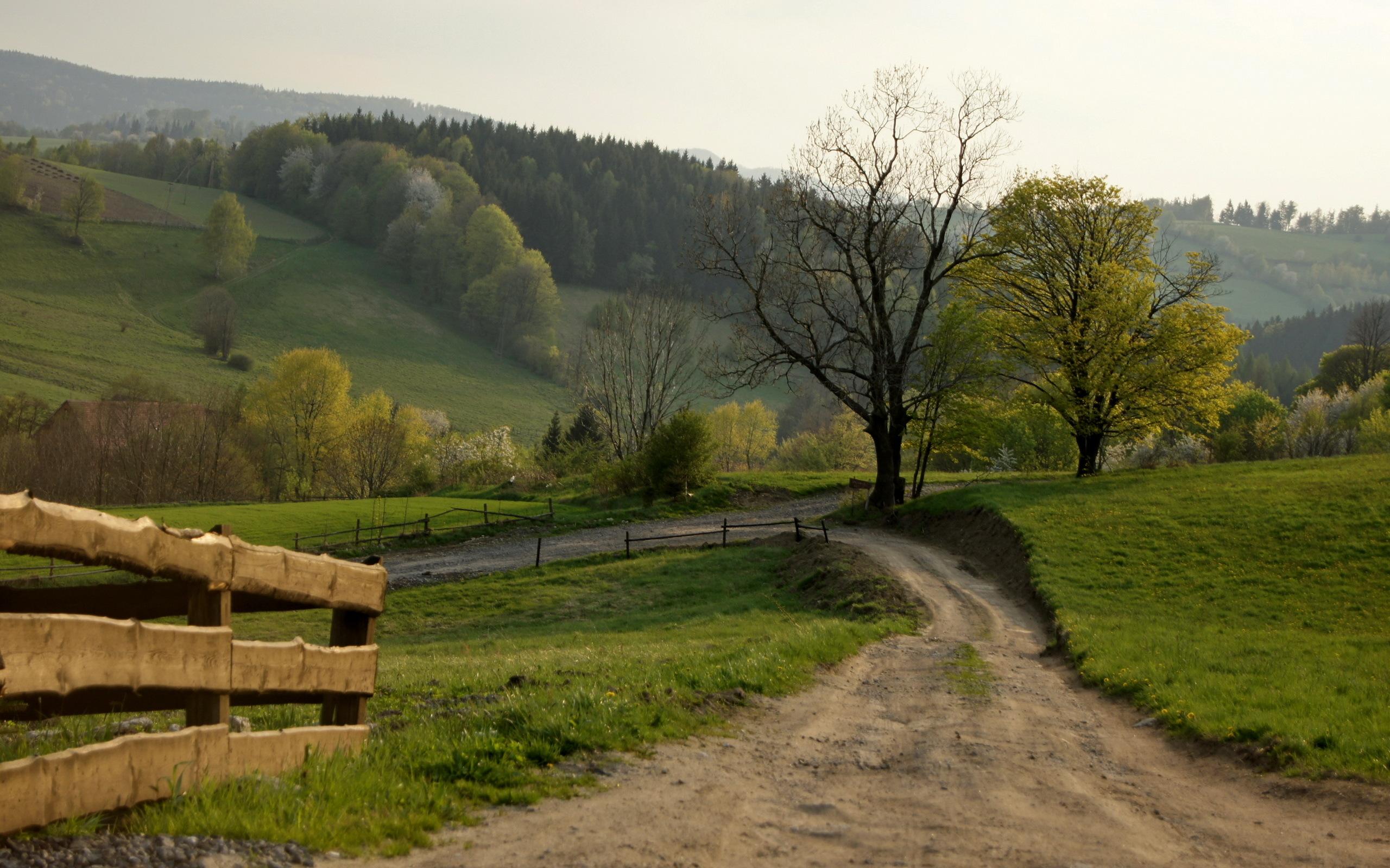 дорога гора забор  № 2763643  скачать