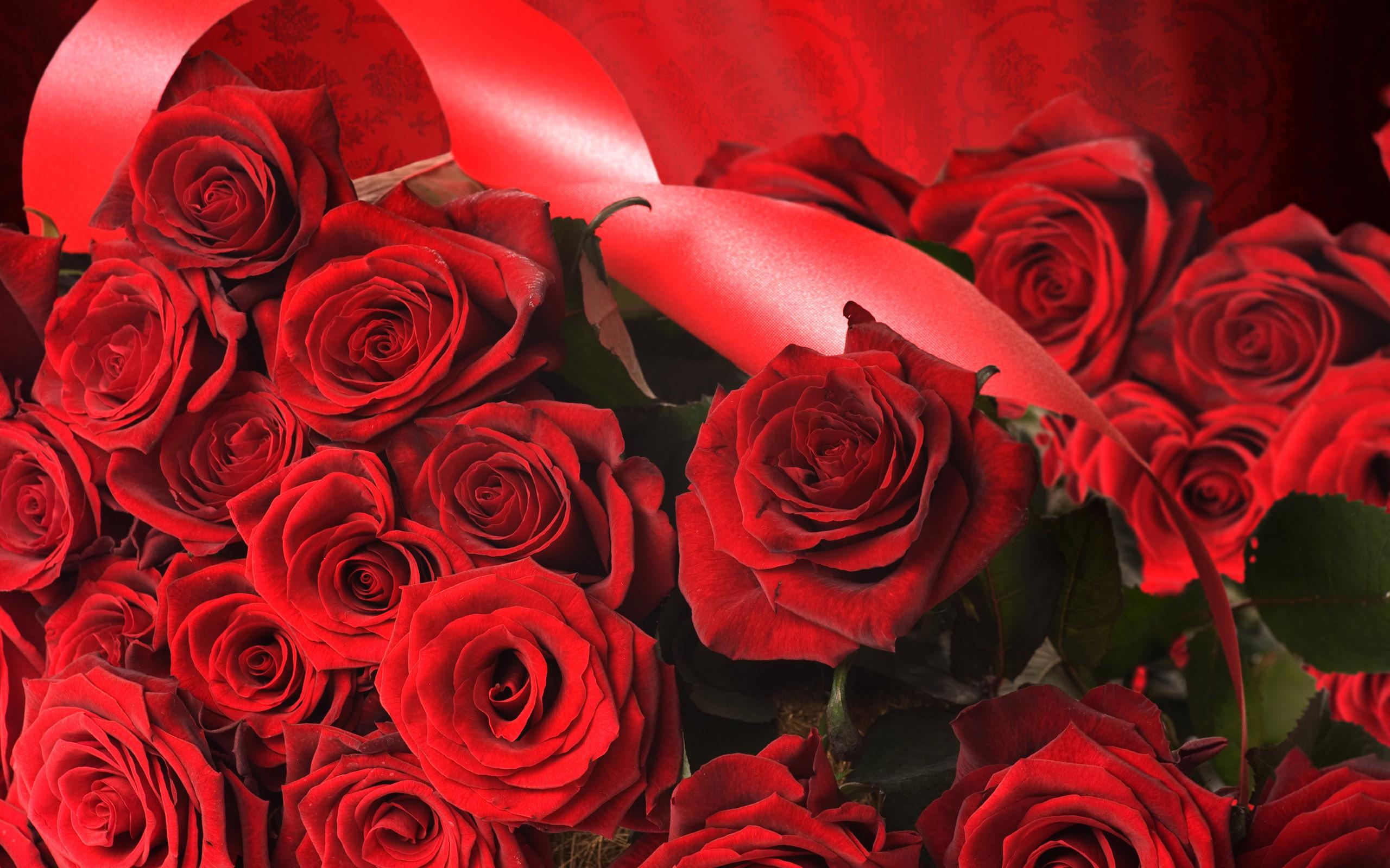 Открытка в розах