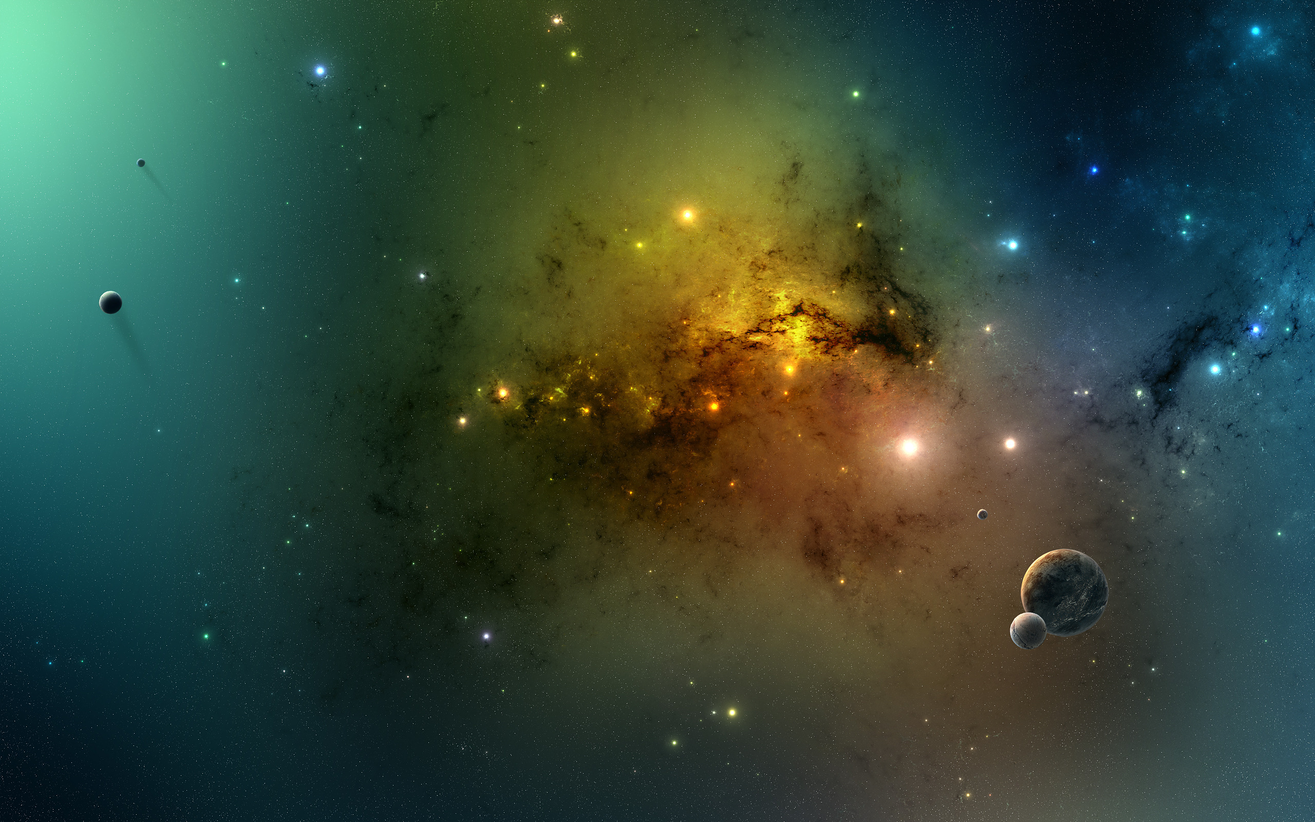 planets and galaxies - HD