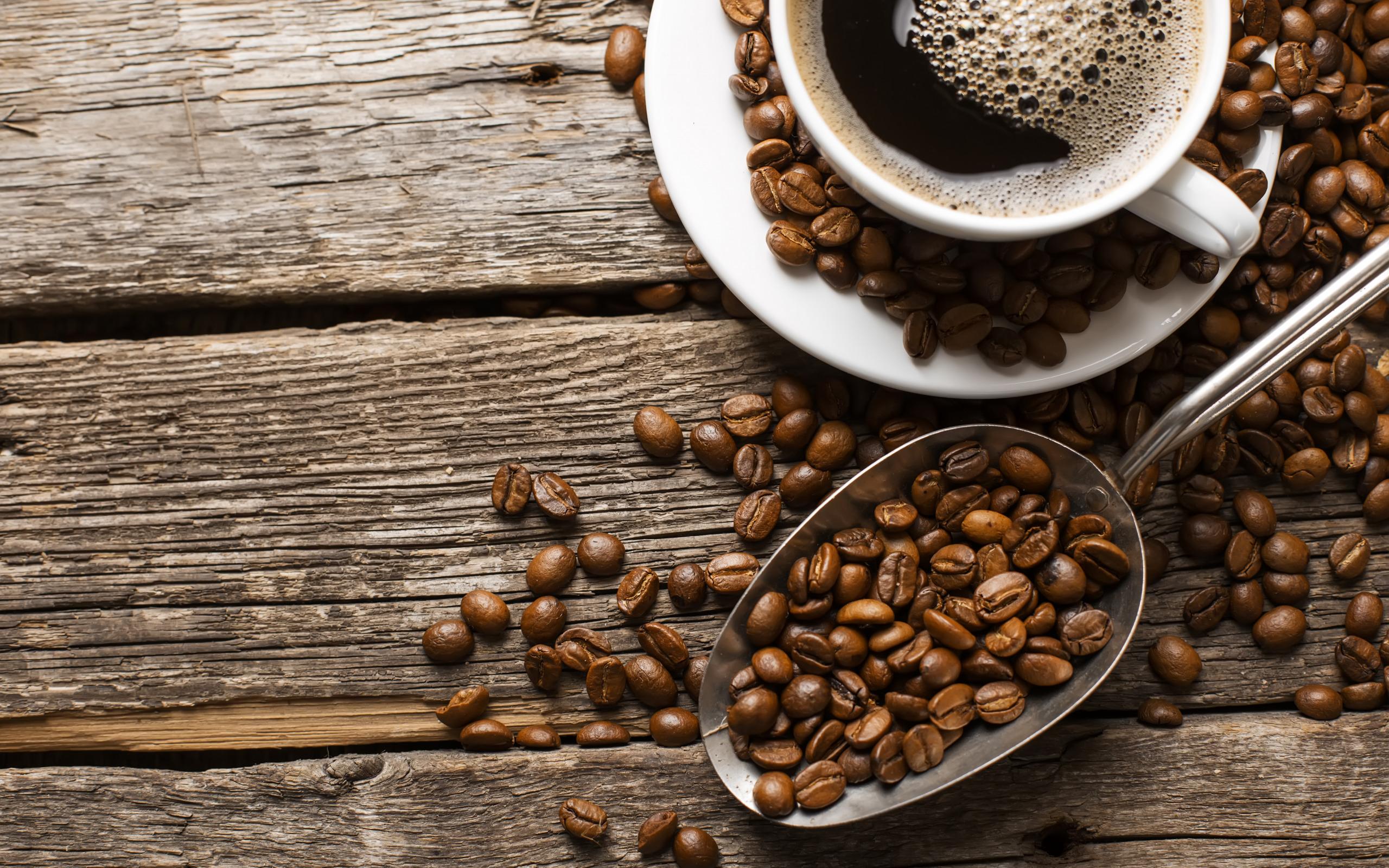 Чашка кофе с зернами  № 2153067  скачать