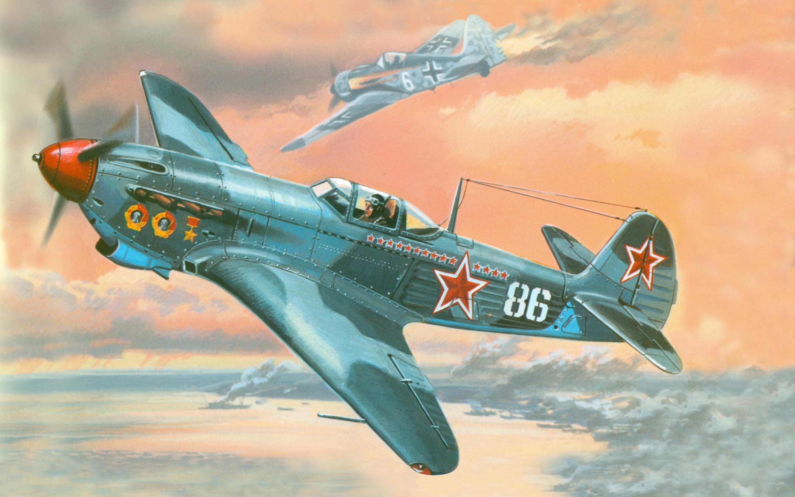 Обои подбитый, советский, самолеты, истребитель. Авиация foto 6