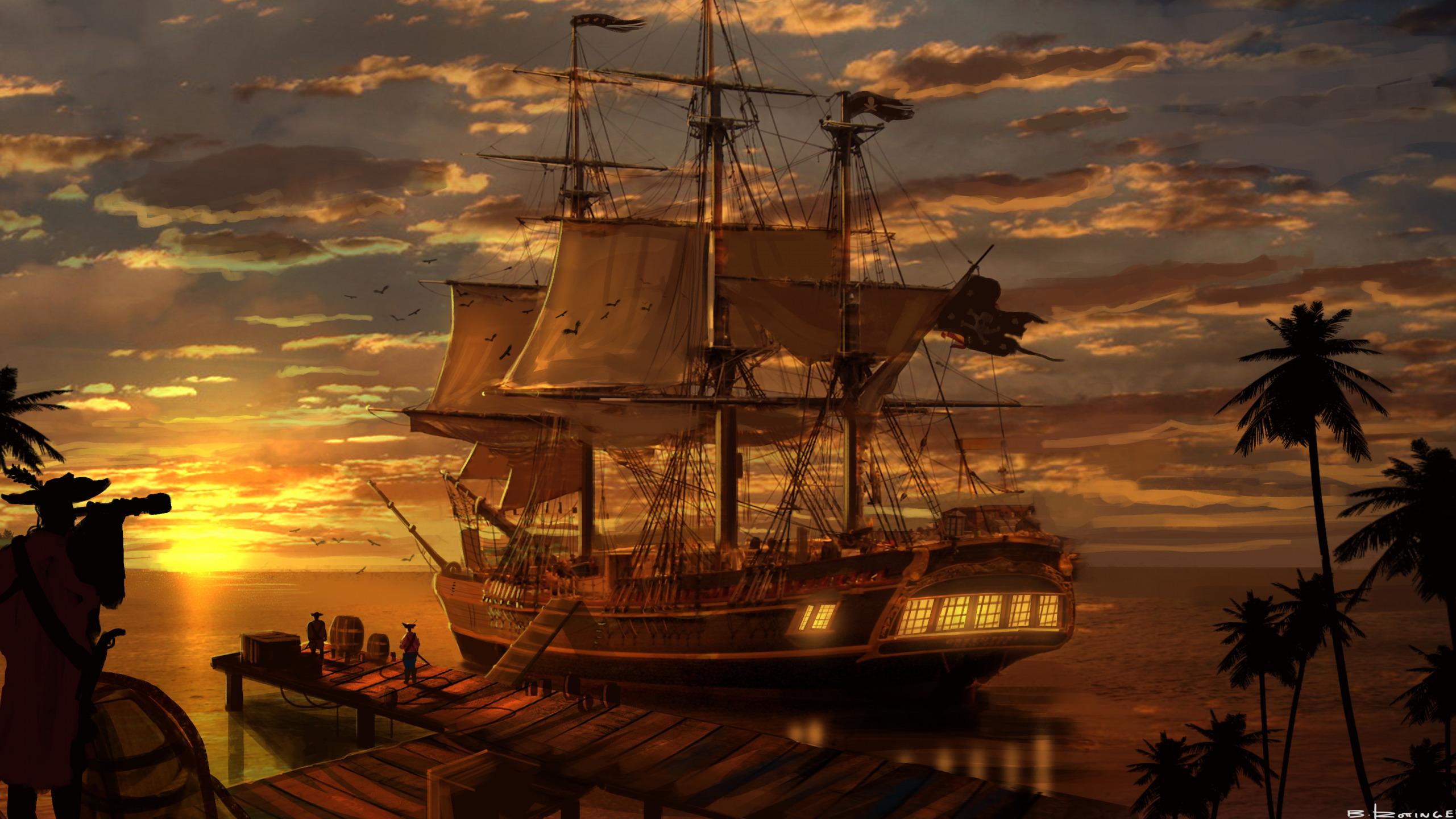 обои для рабочего стола пиратские темы № 618539 загрузить