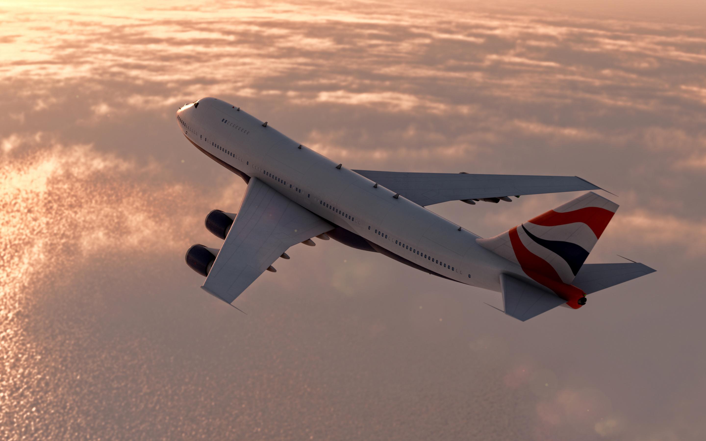 Авиалайнер в воздухе  № 2357474 загрузить