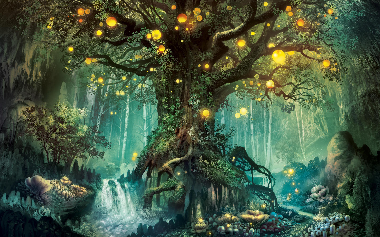 фэнтези лес рисунок такие тату можно