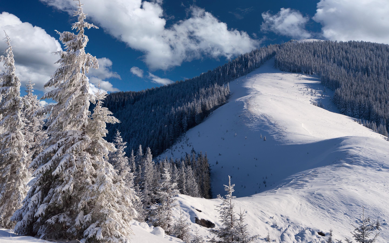 Снег на горных склонах  № 2944989 без смс