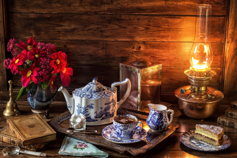 вечерний чай ретро картинка этом фото отлично