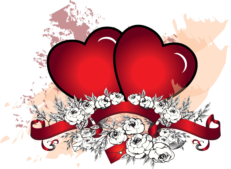Цветочные, открытка для влюбленных