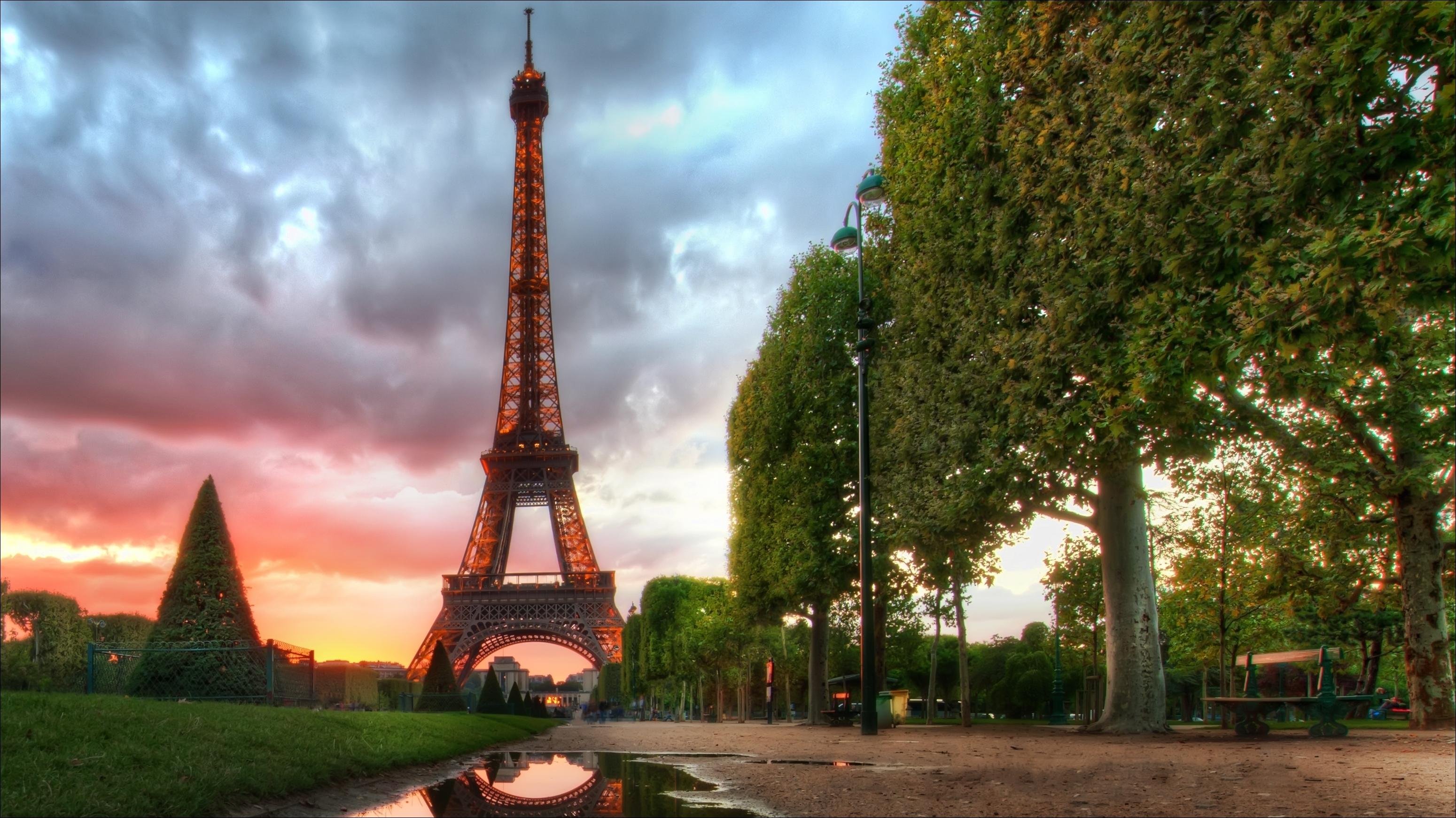 природа страны архитектура Марсово поле Париж Франция  № 824028 без смс