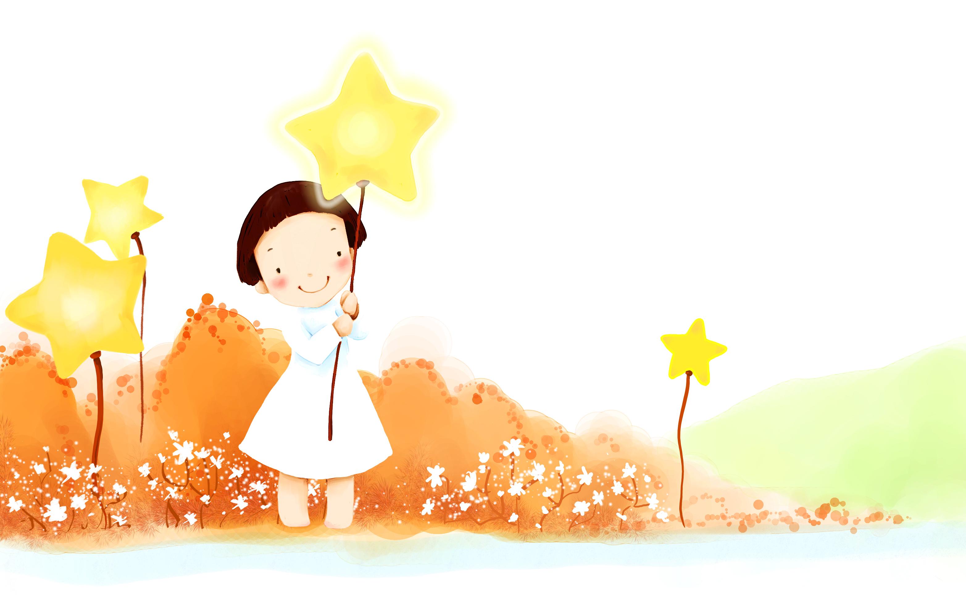Открытка с днем рождения звездочка