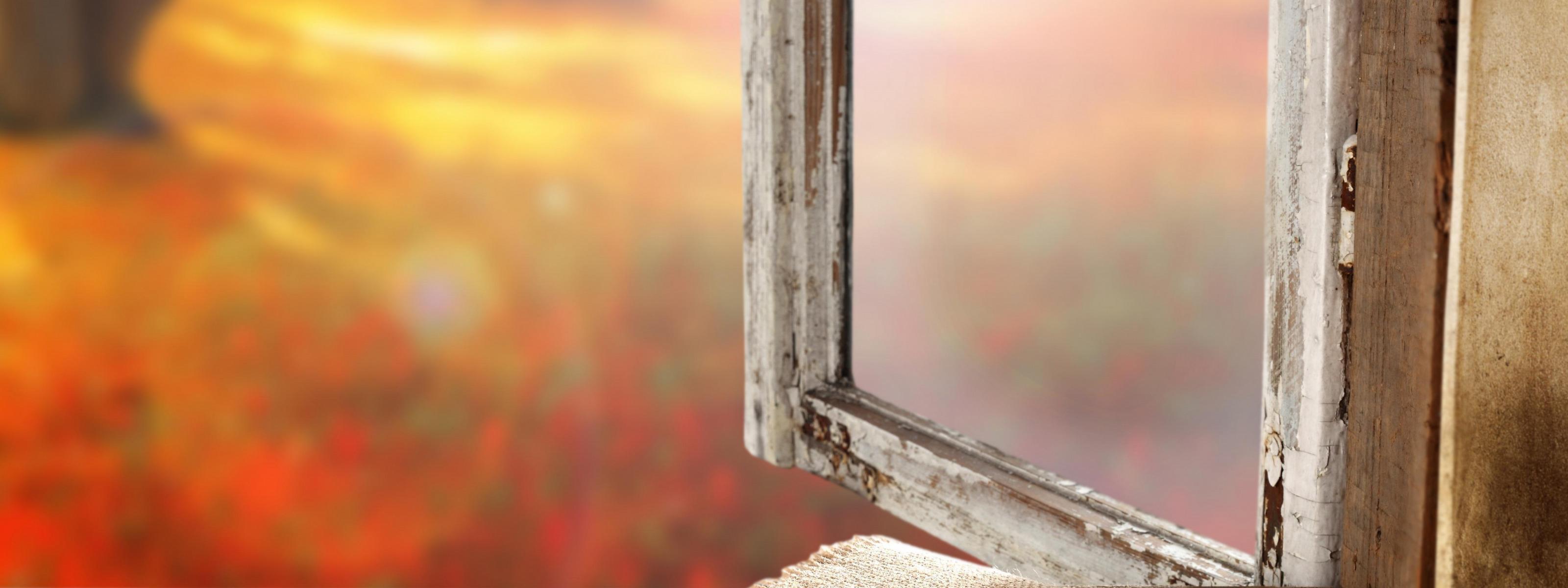 Обои подоконник, окно, осень, мешковина. Разное foto 12