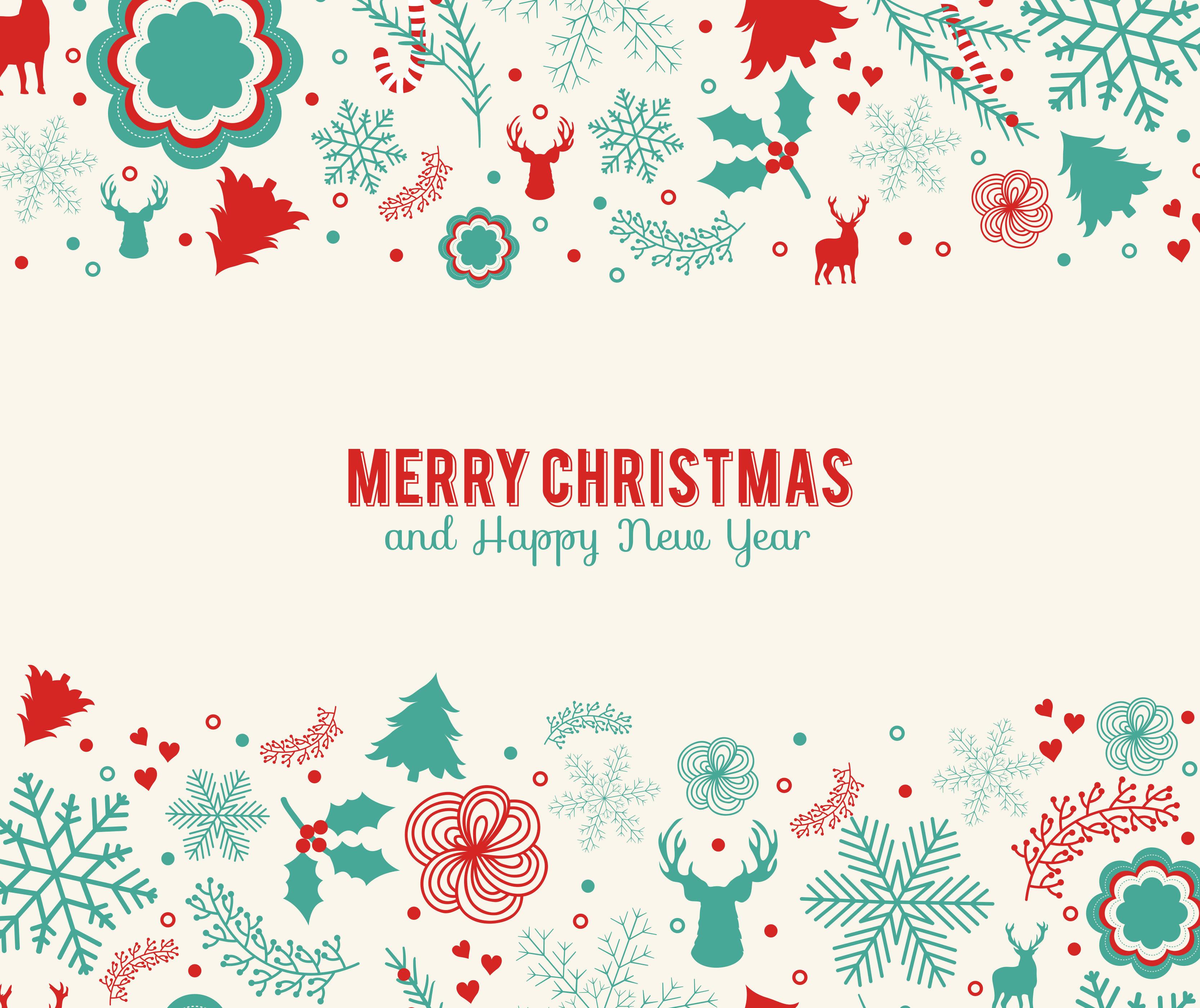 Спокойной ночи, стильные открытки на новый год распечатать