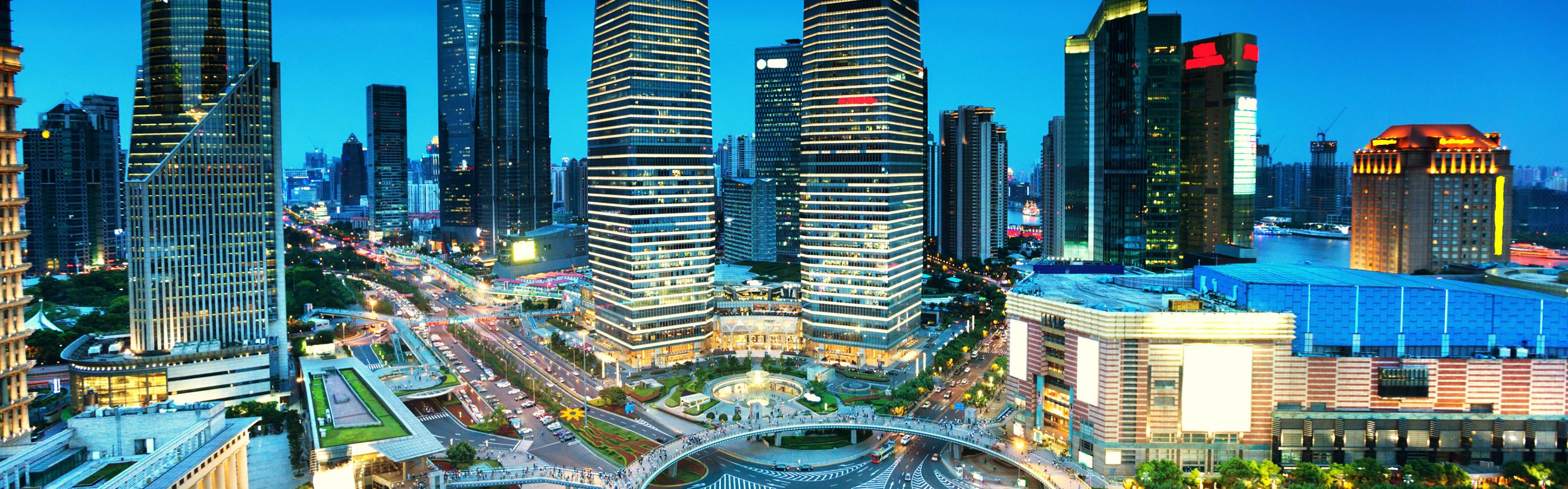Обои небоскребы, китай, дома, улицы, шанхай, дороги. Города foto 8