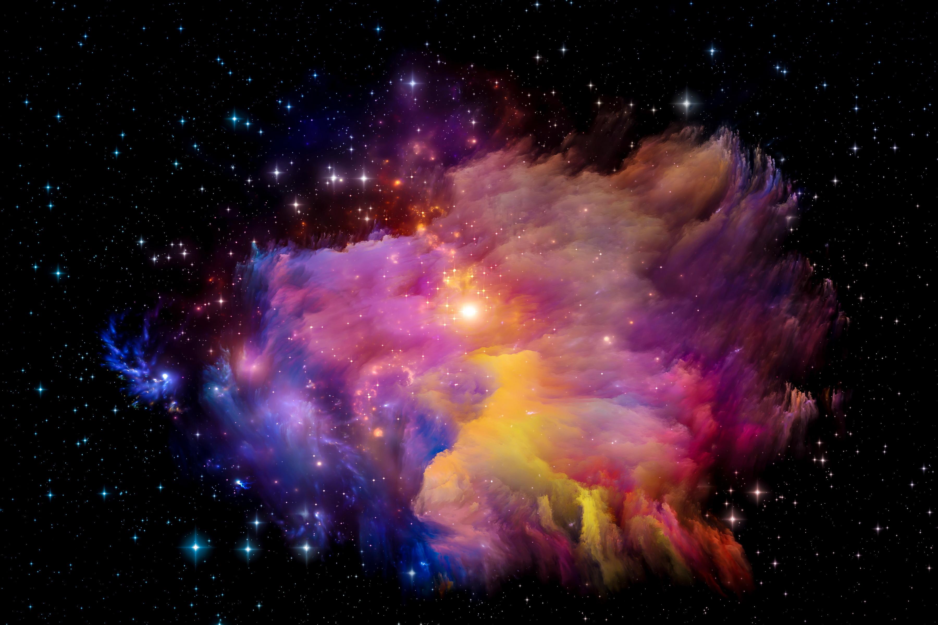 colorful galaxy stars - HD1920×1080