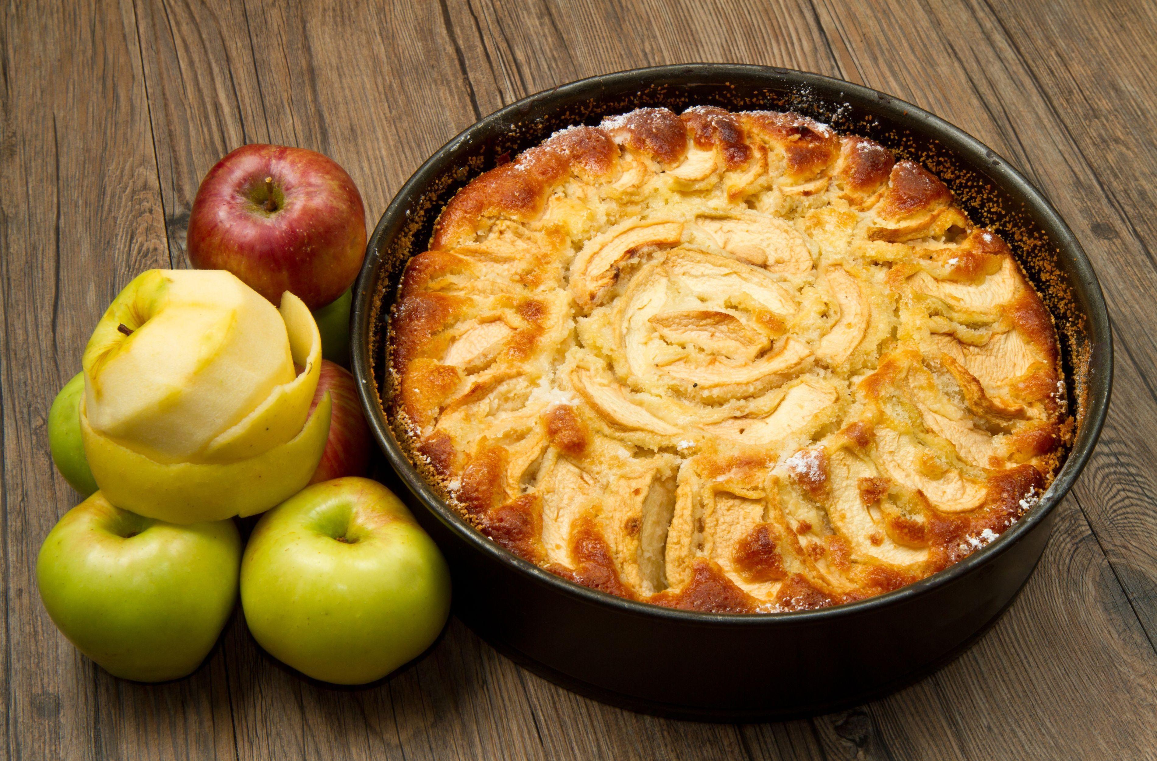 пироги с яблоками с картинками при том
