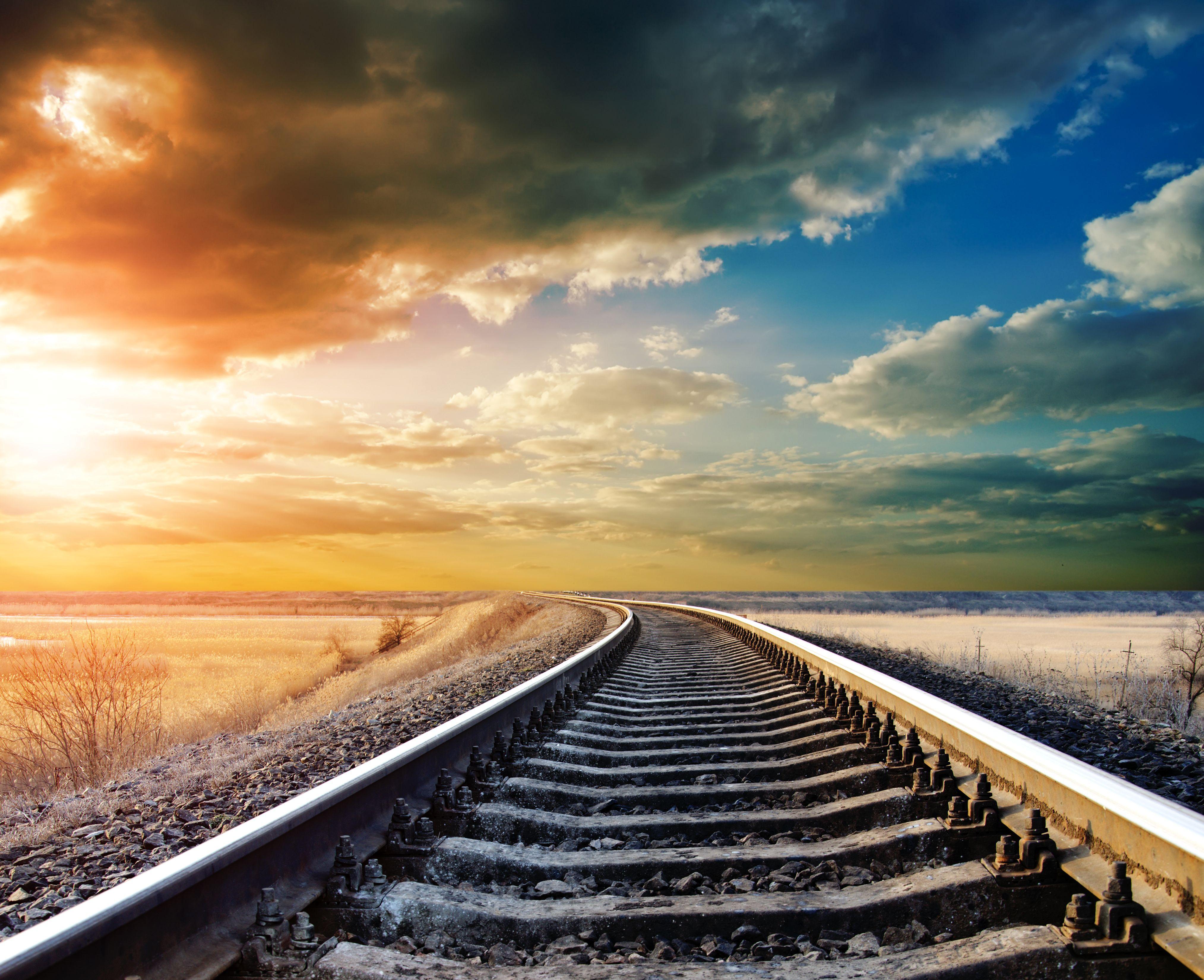 рельсы железная дорога деревья туннель  № 3118460 загрузить