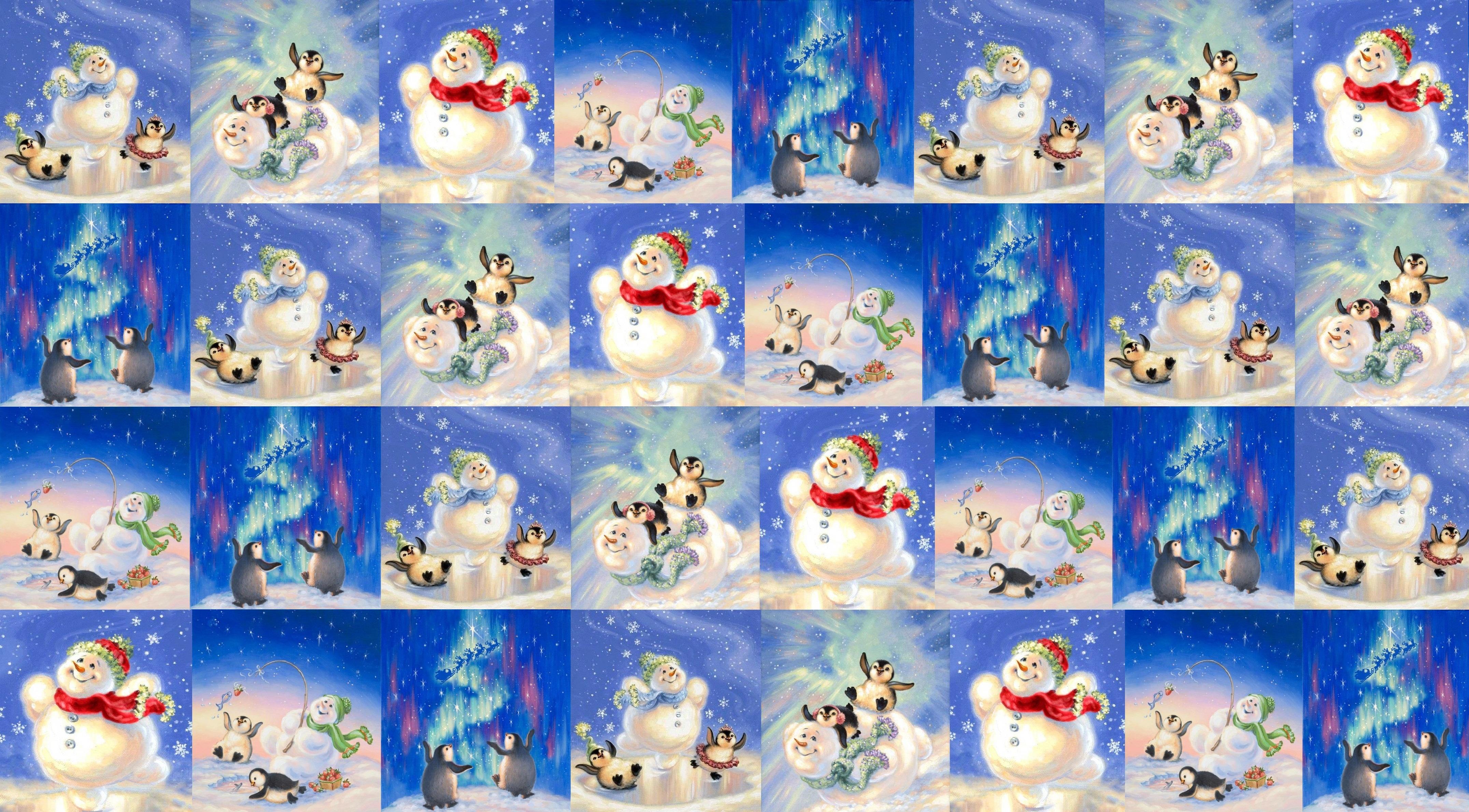 Новогодние коллажи открытки