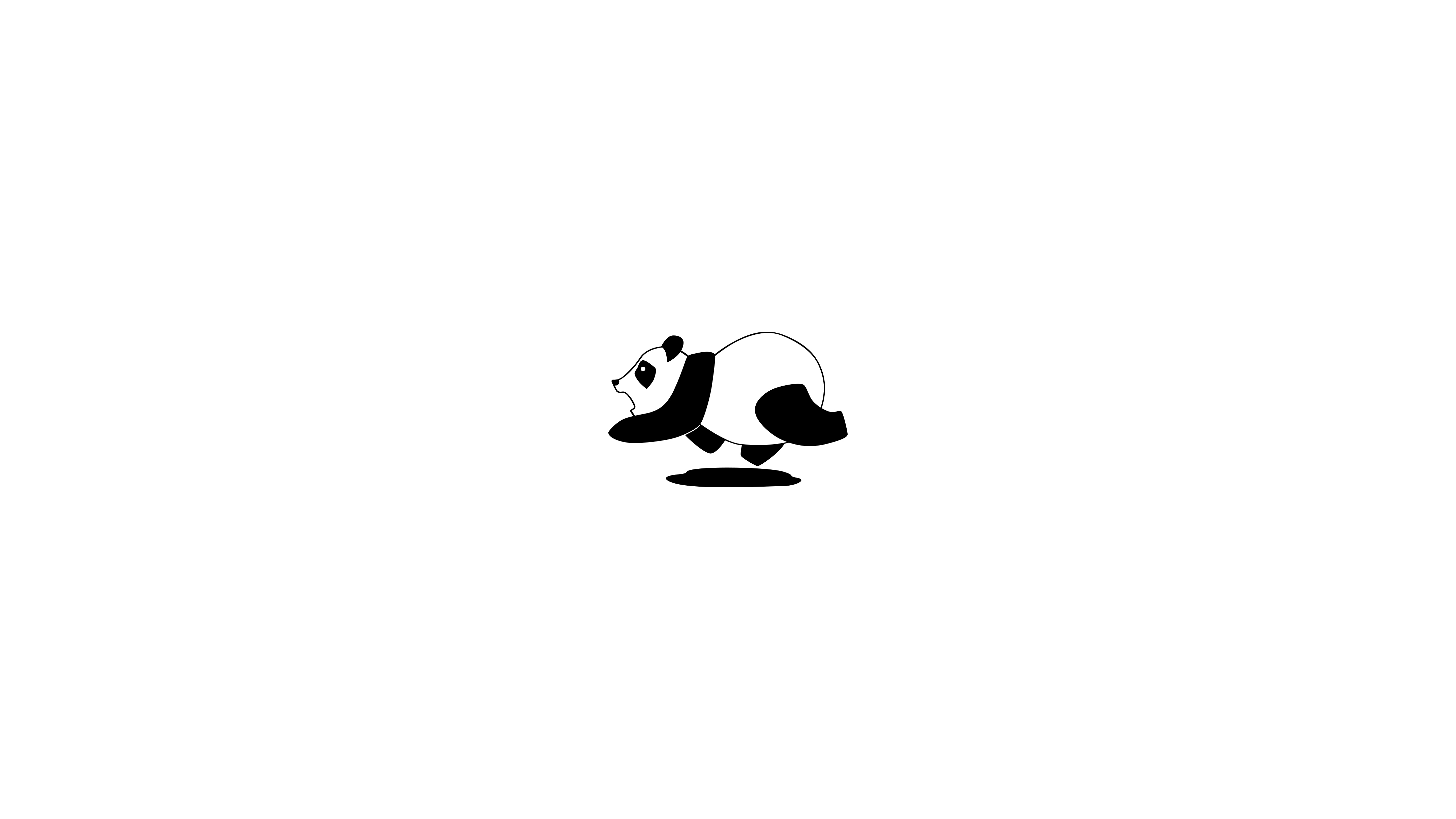 черно белые картинки панды