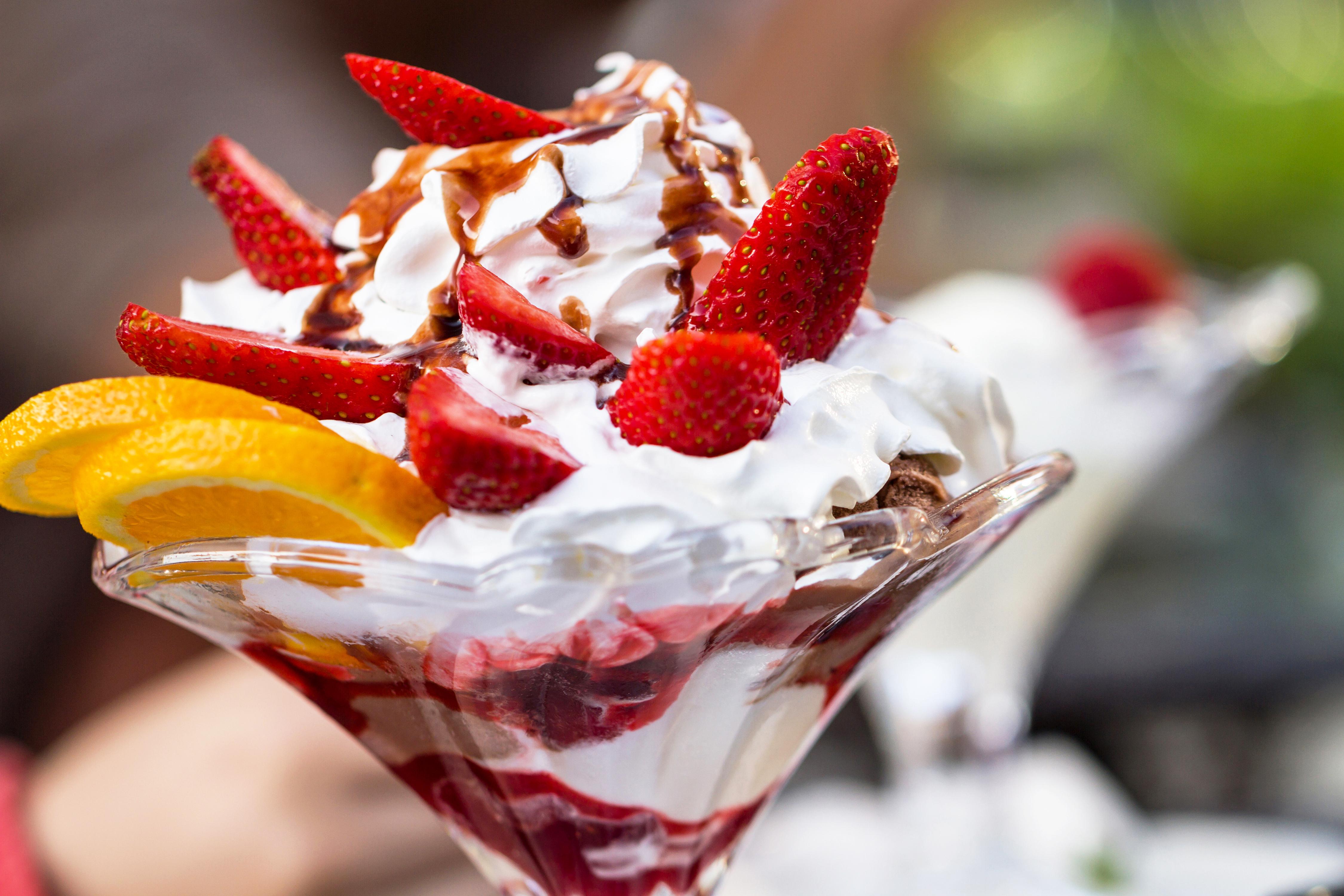 Открытка красивое мороженое, панорамные картинки
