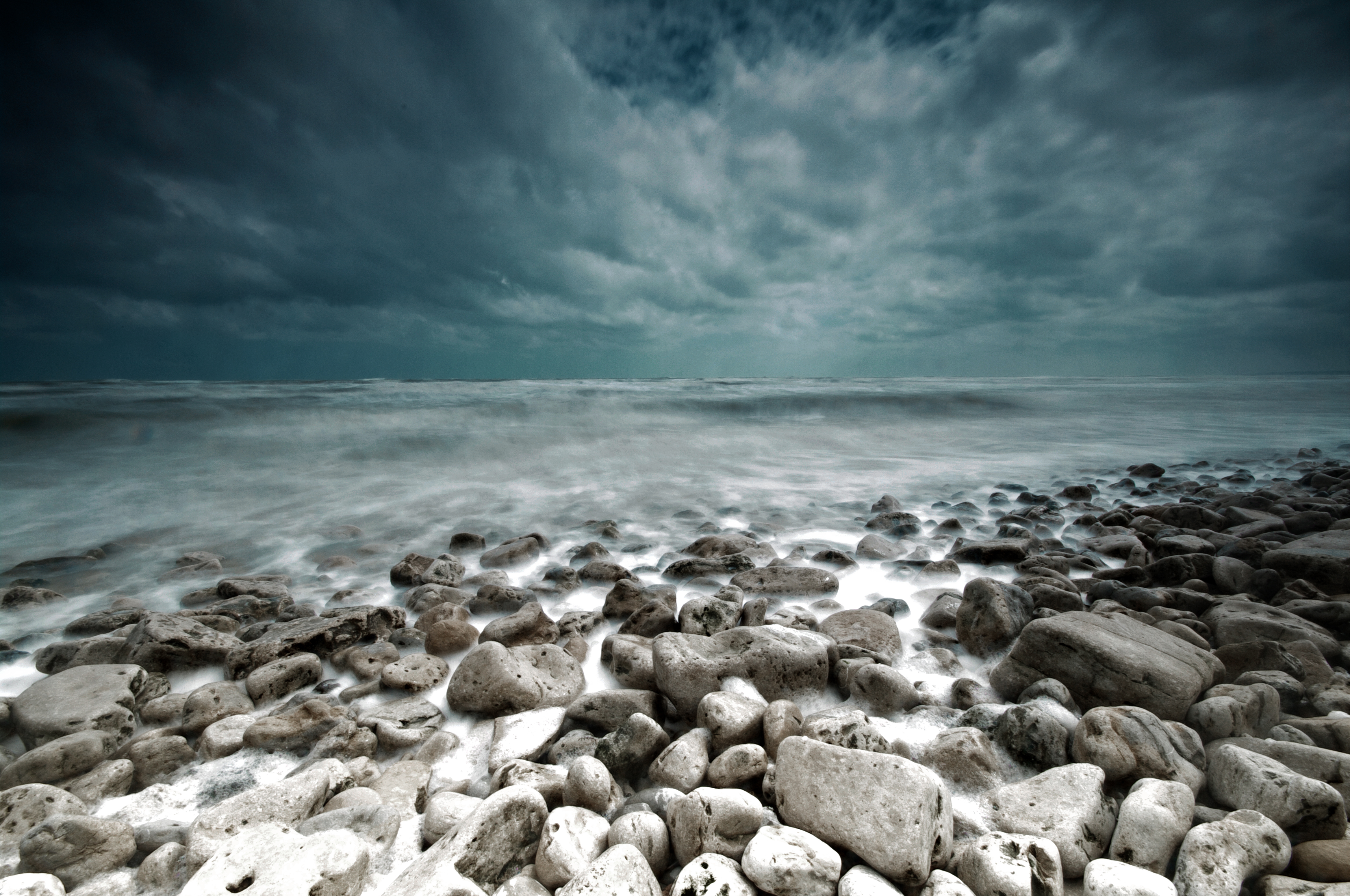 Пейзаж landscape камни море шторм буря