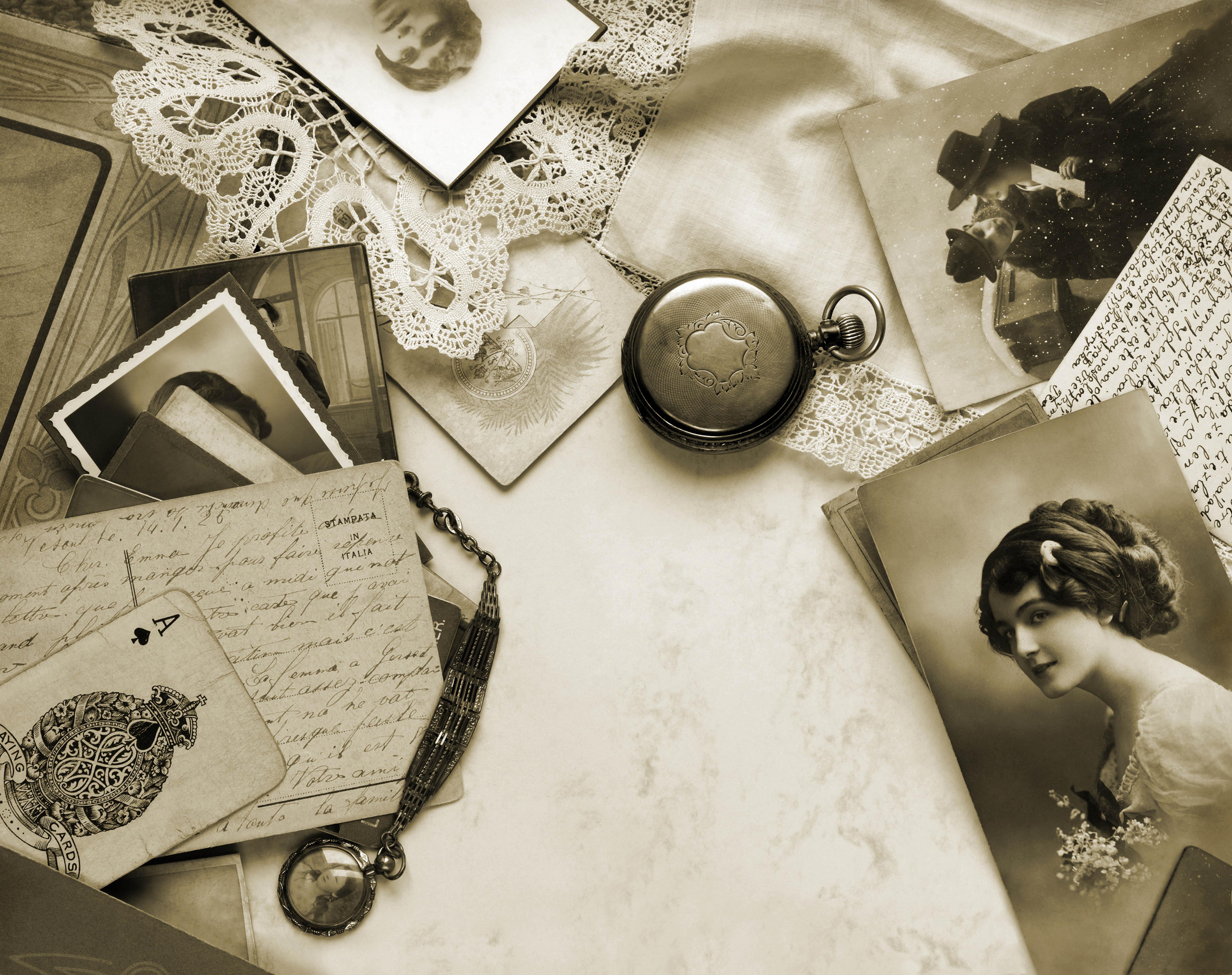 Винтажных открытках фотошоп