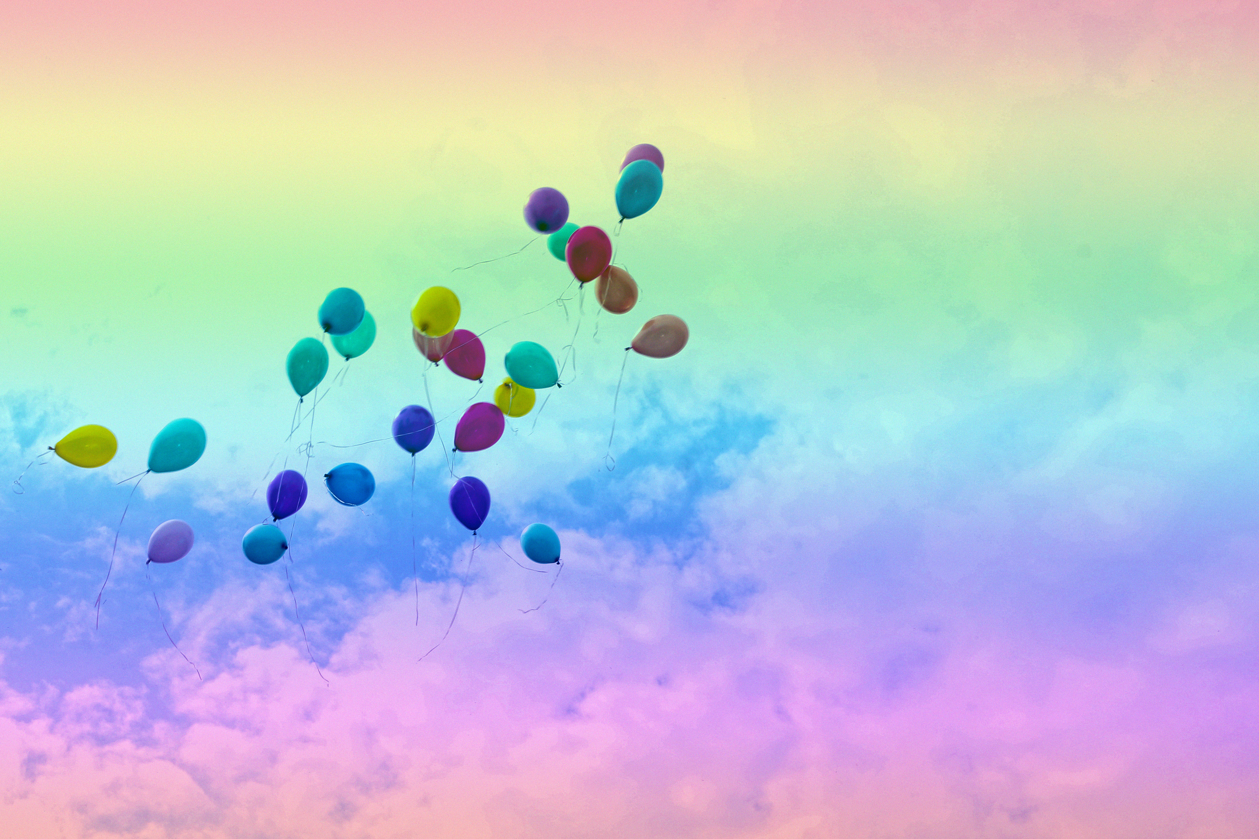 шары небо  № 3923326 бесплатно