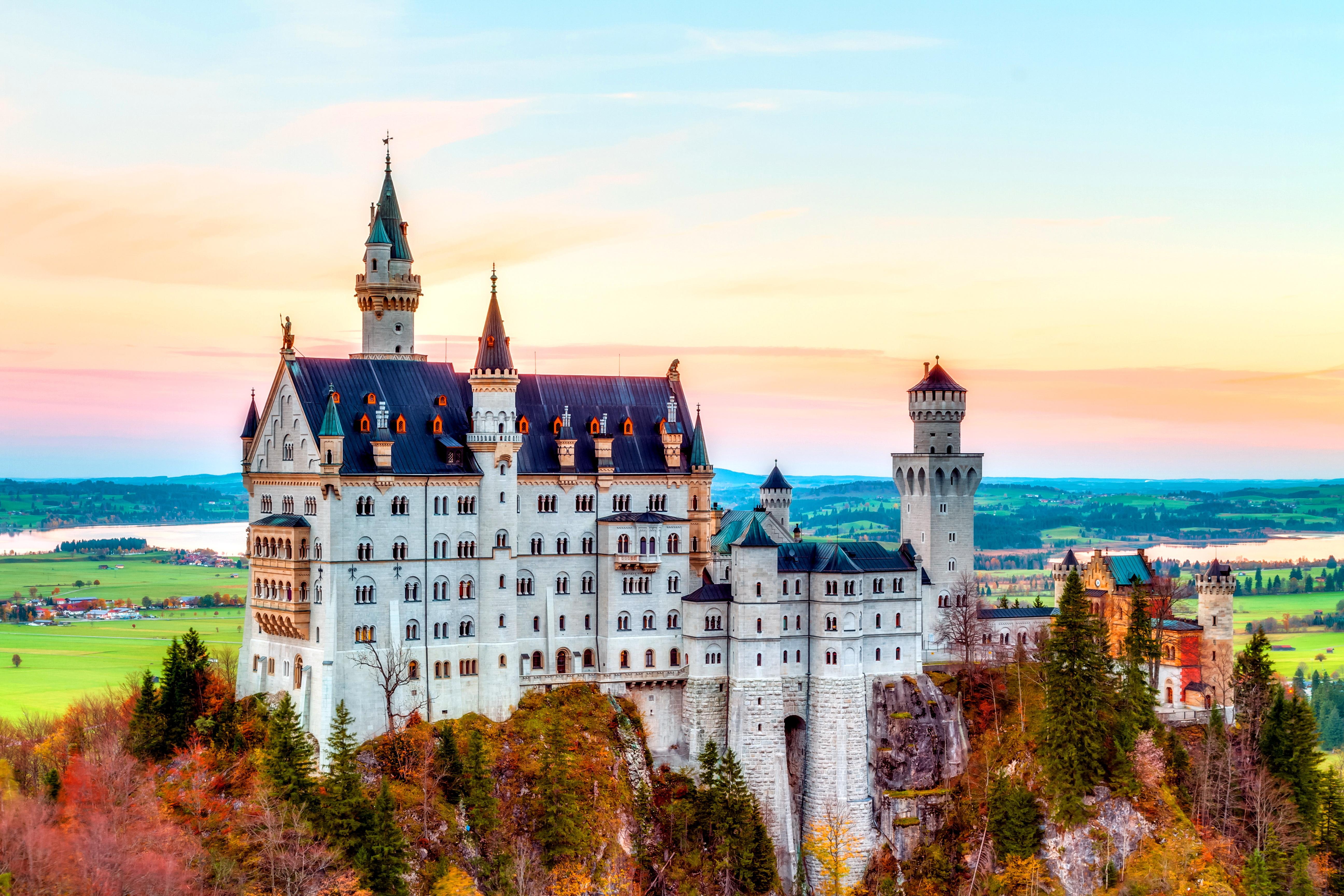 Замок в германии обои на рабочий стол