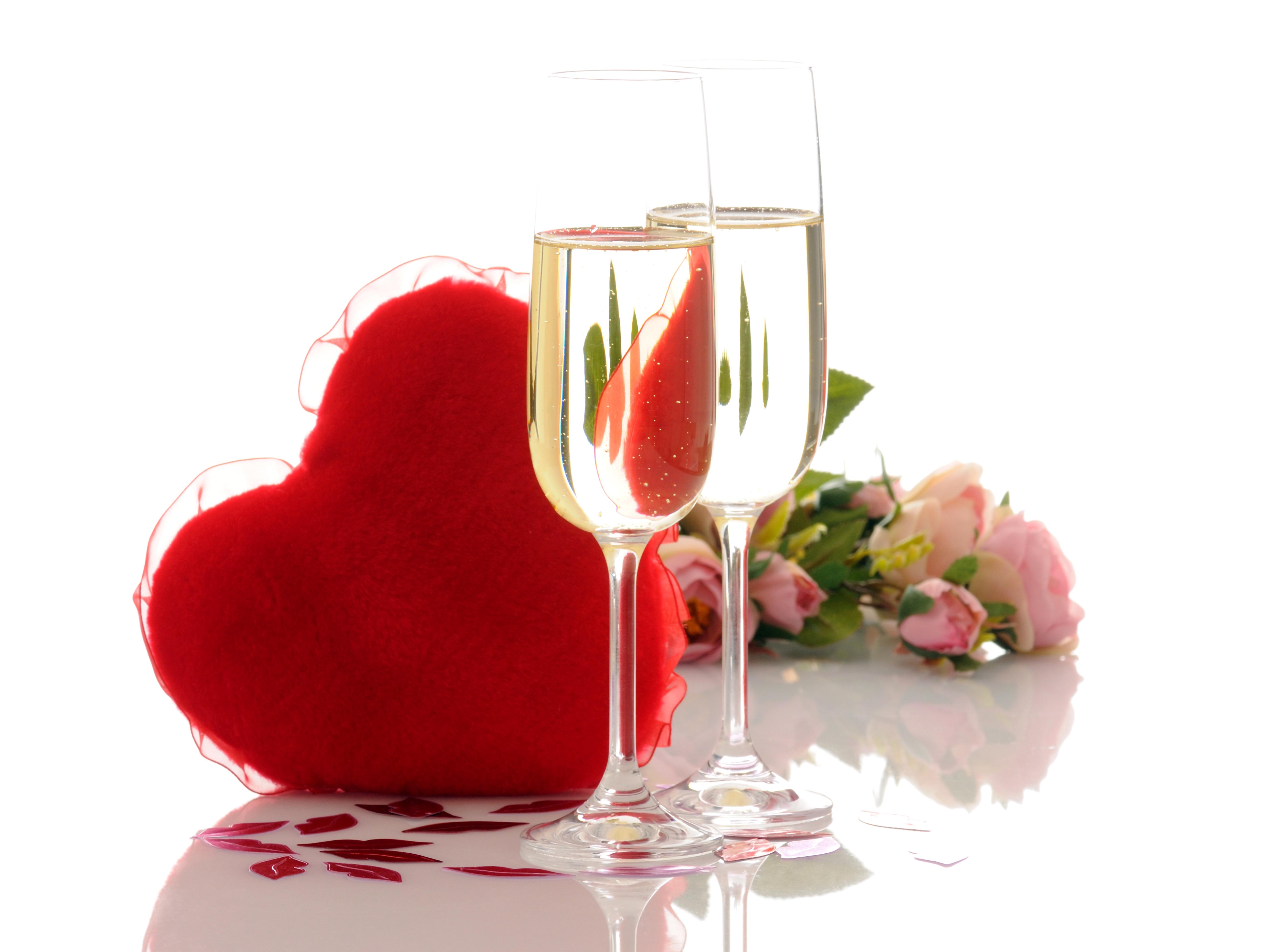 Два бокала с розами  № 750321 без смс