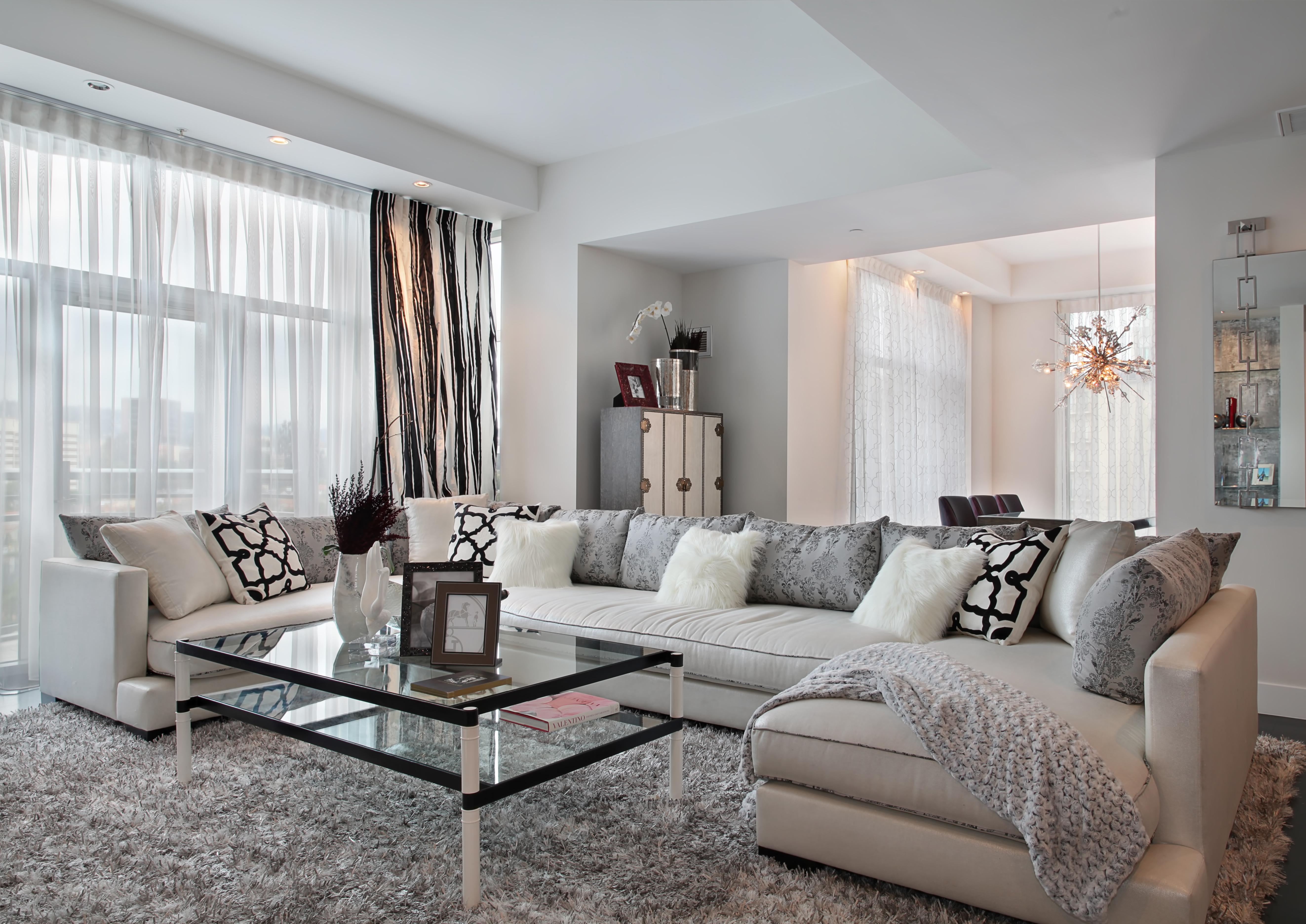Стиль гостинная диван светлая  № 87427 загрузить