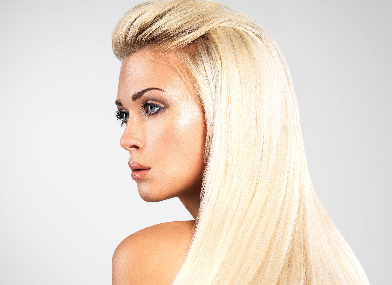 фото блондинок в профиль