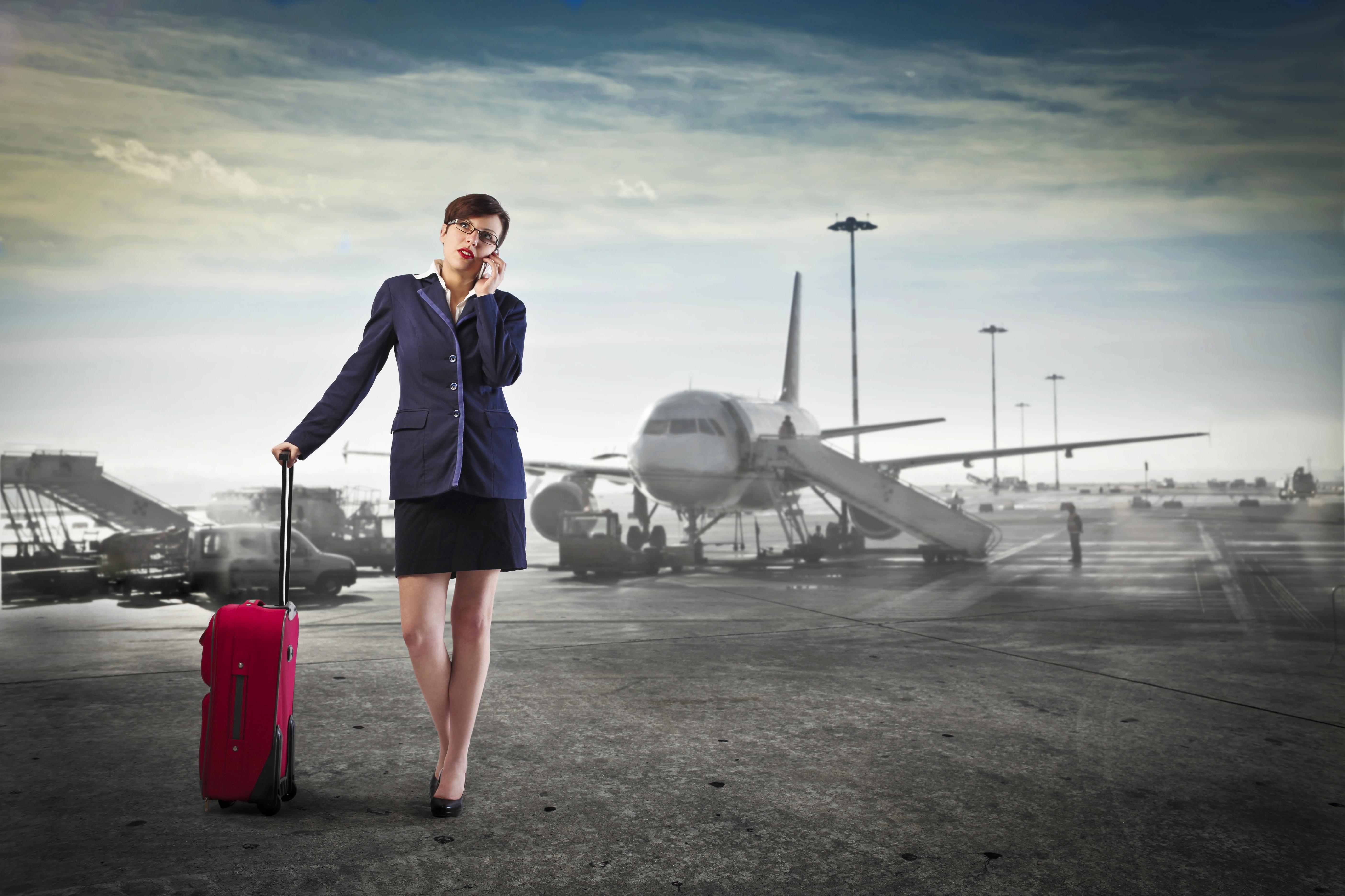 Женщина и самолет картинки
