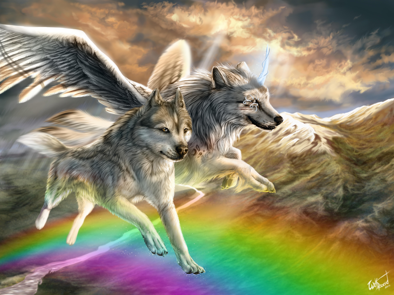 Картинки волк фэнтези для рабочего стола