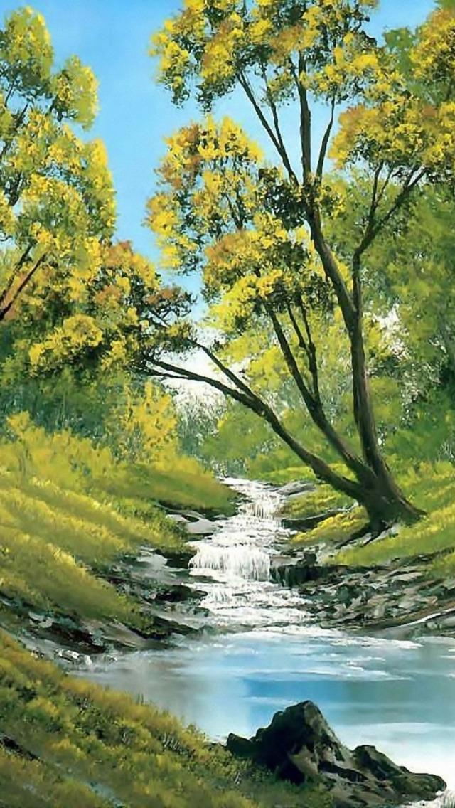 нас пейзаж весна картинки анимационные вышита чередующимися желтыми